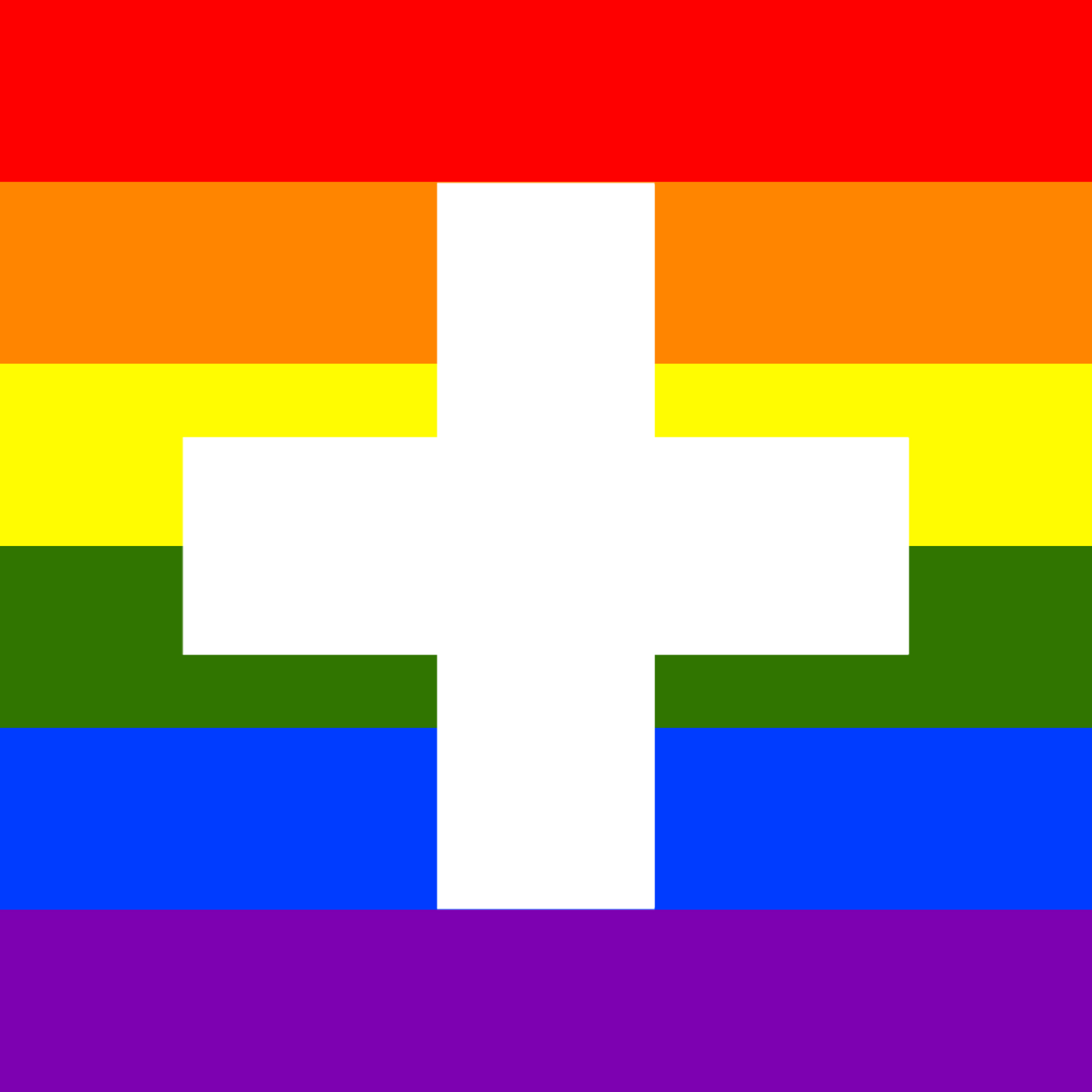 Rainbow Flag Switzerland by Hirnlichtspiele