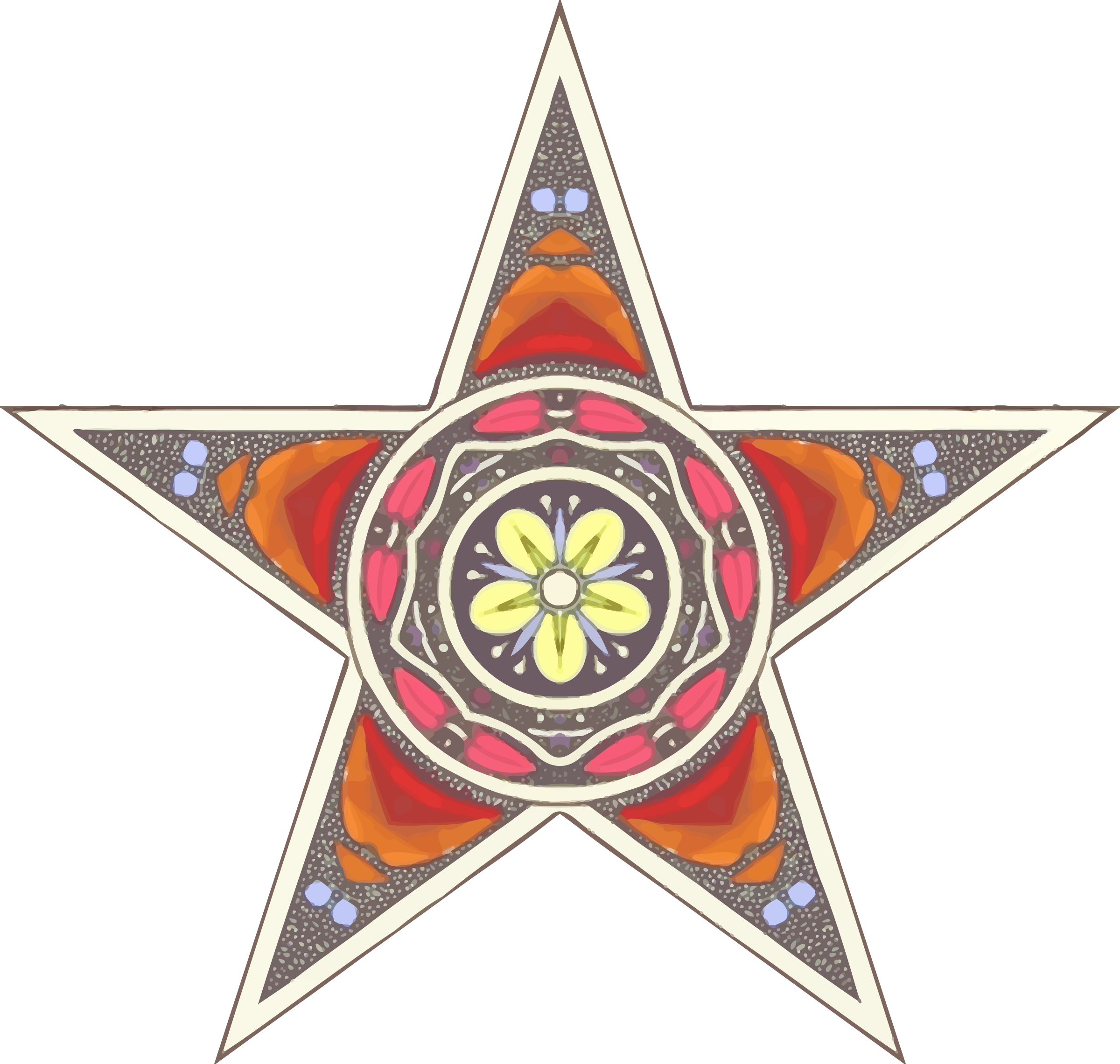 Ornamental star 19 by Firkin