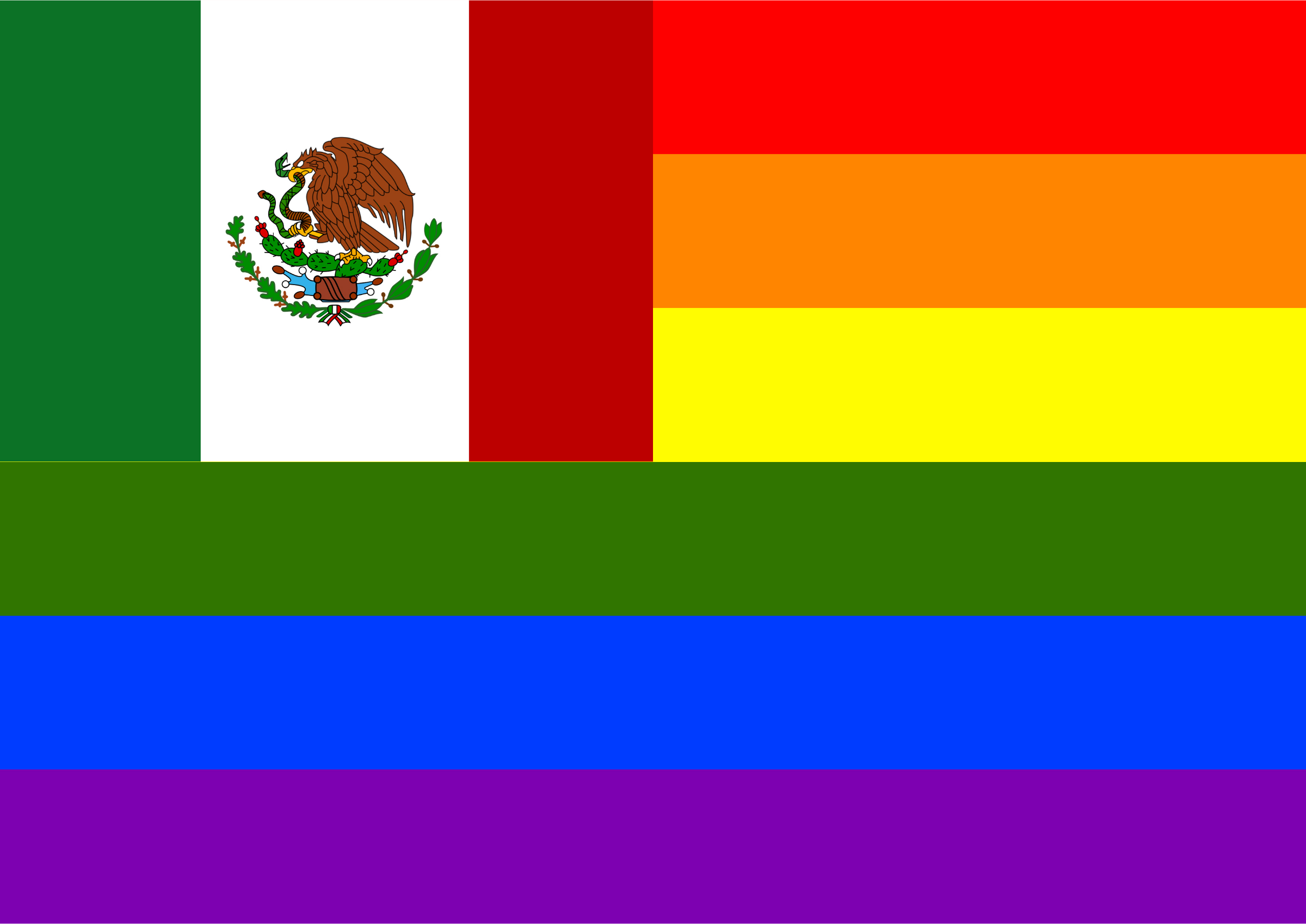 Rainbow Flag Mexico by Hirnlichtspiele