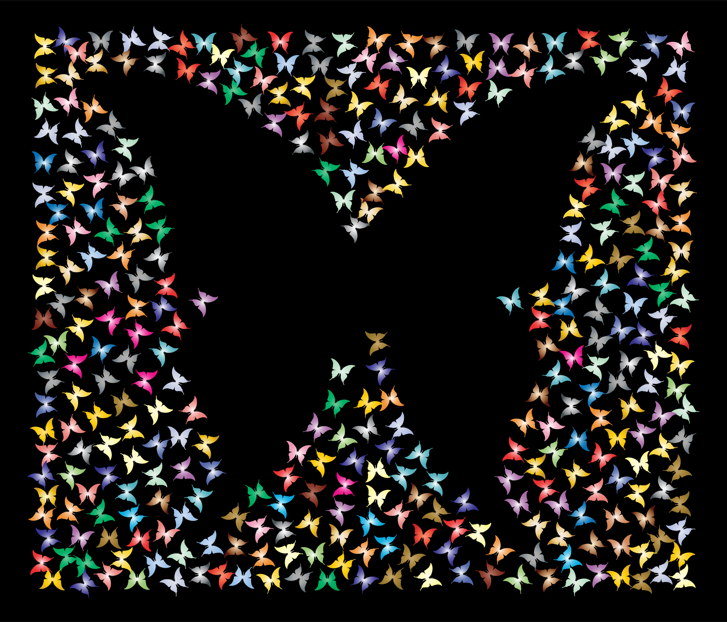Prismatic Negative Space Butterflies 3 by GDJ