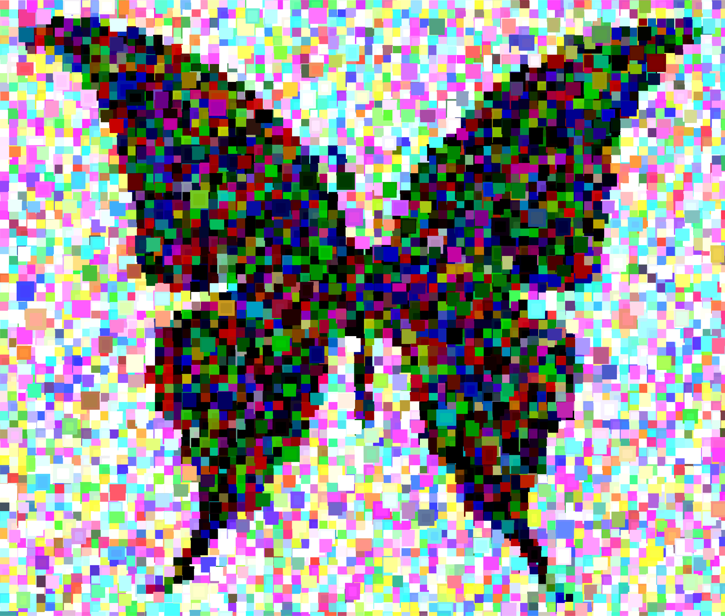 Butterfly Silhouette 6 Confetti Mosaic by GDJ
