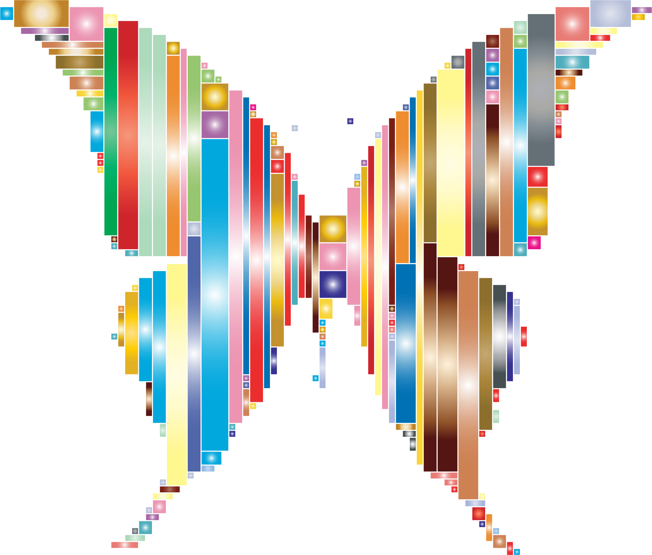 Prismatic Abstract Modern Art Butterfly 2 by GDJ