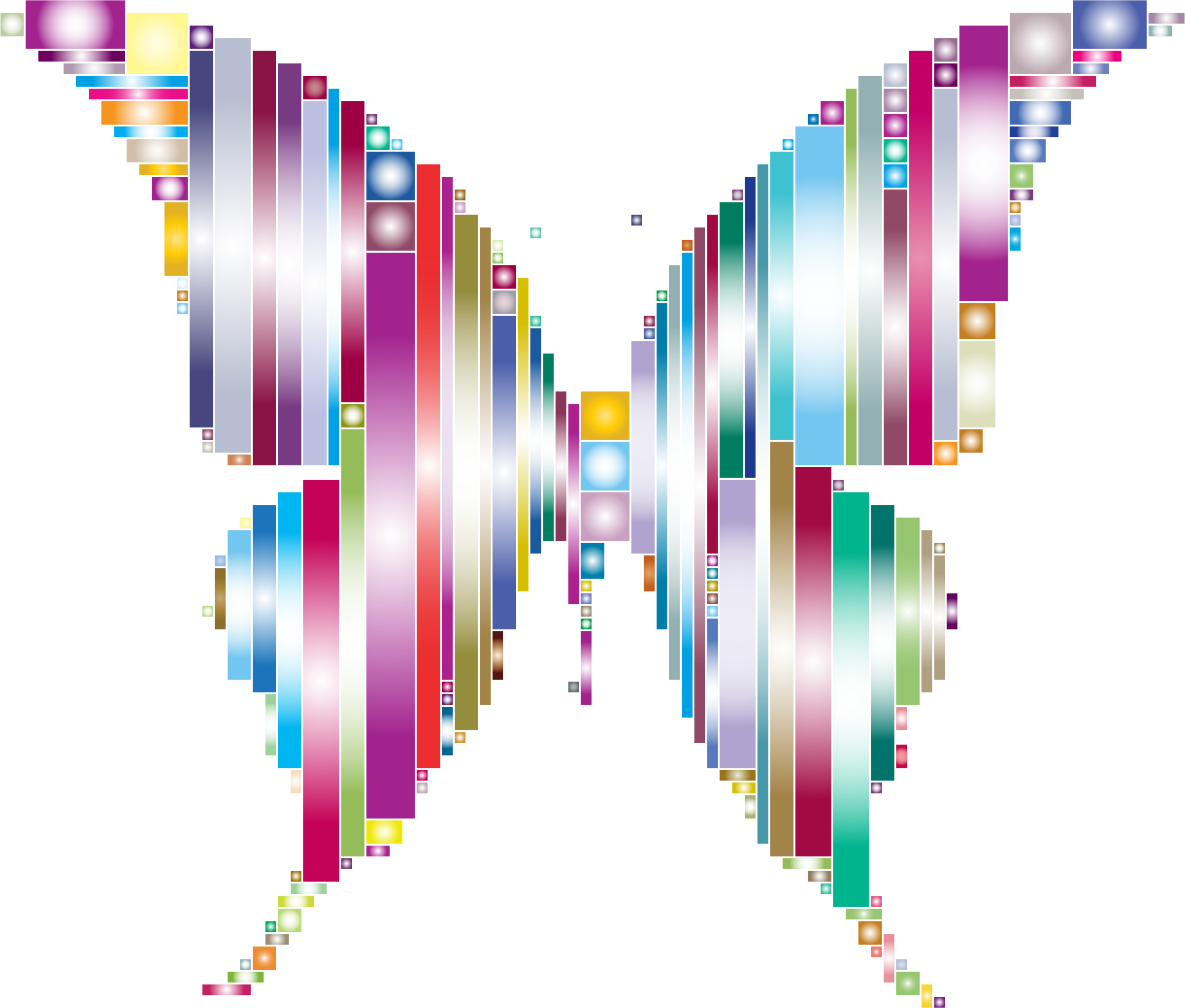 Prismatic Abstract Modern Art Butterfly 3 by GDJ