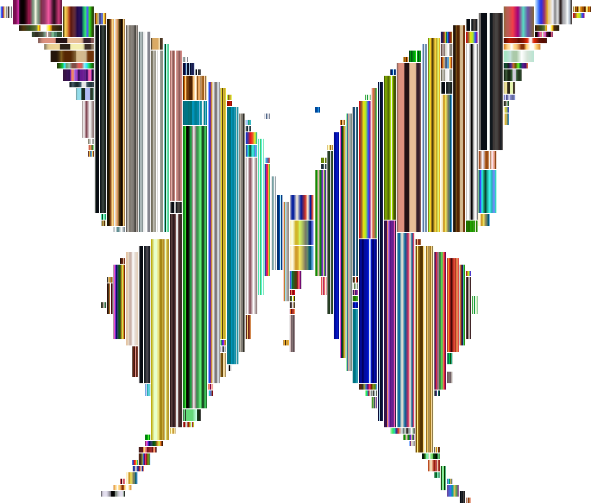 Prismatic Abstract Modern Art Butterfly 8 by GDJ
