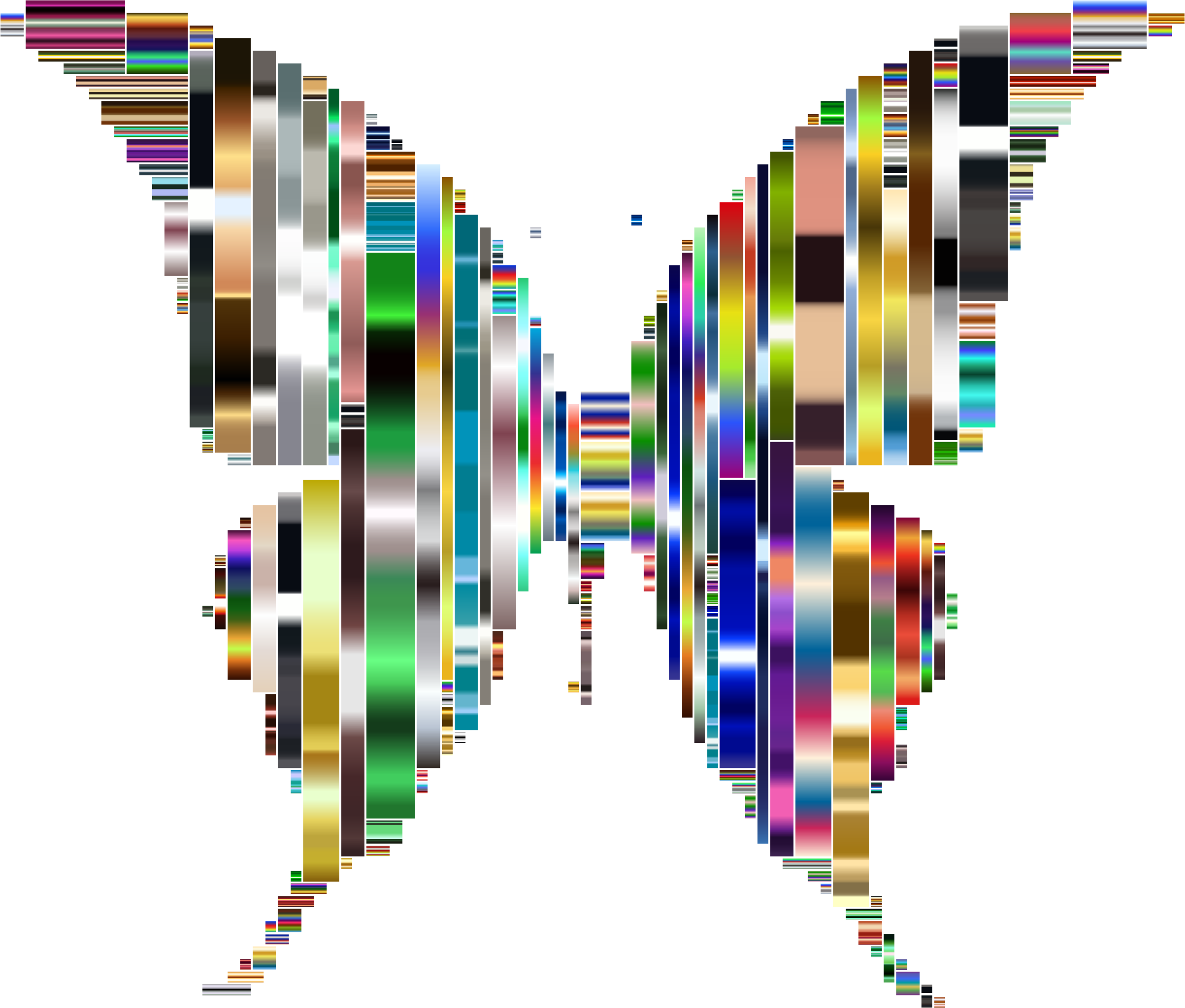 Prismatic Abstract Modern Art Butterfly 9 by GDJ