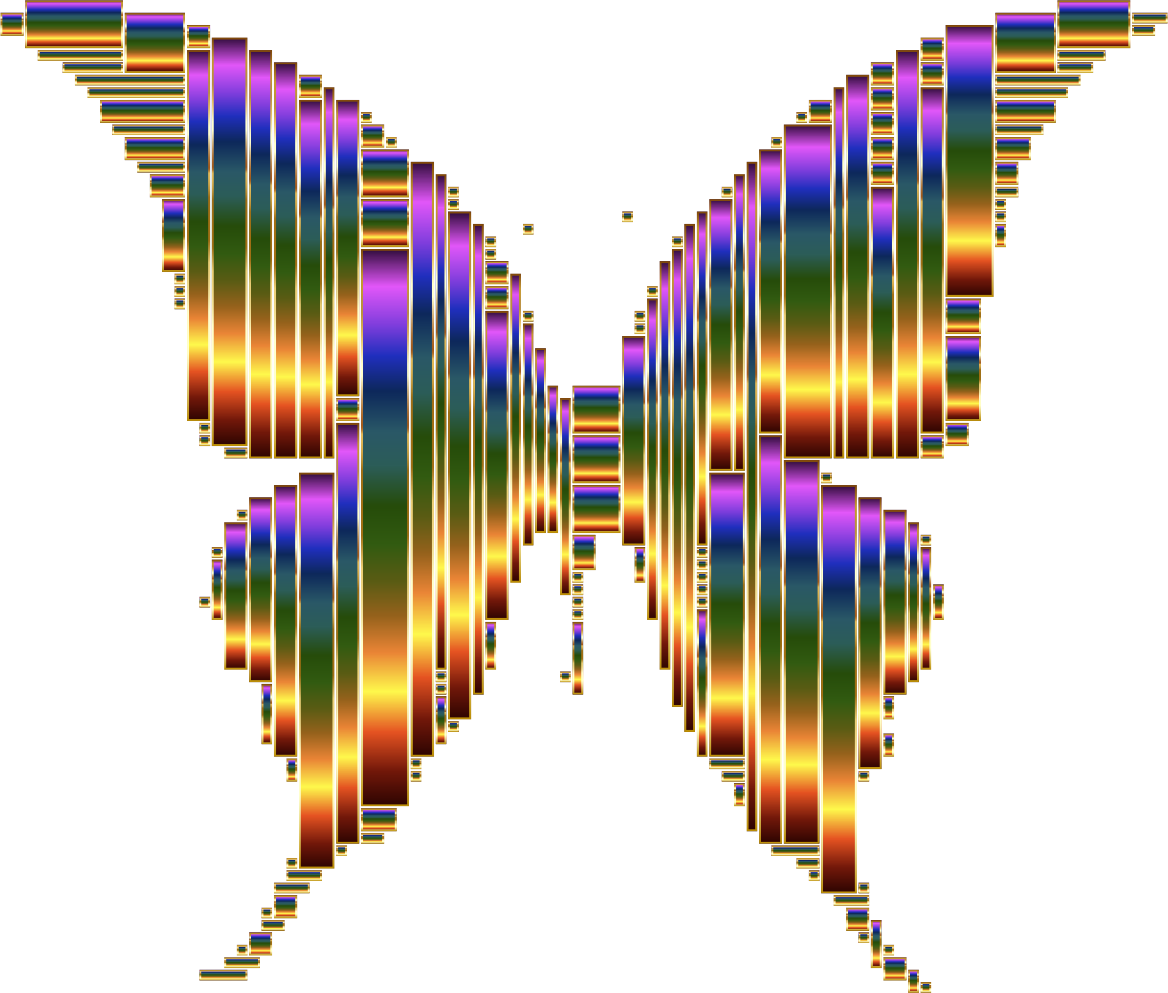 Prismatic Abstract Modern Art Butterfly 12 No Background by GDJ