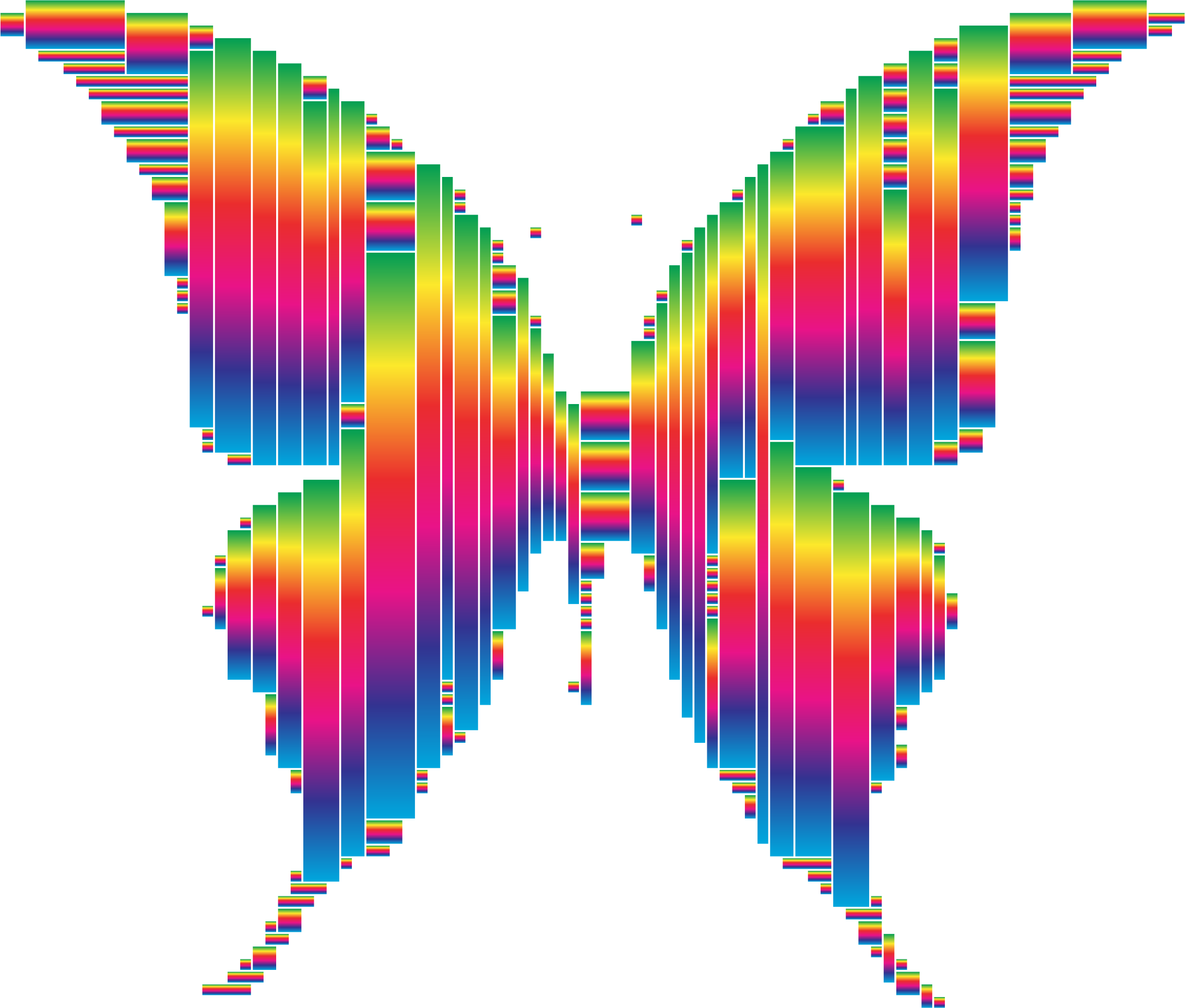 Prismatic Abstract Modern Art Butterfly 14 by GDJ