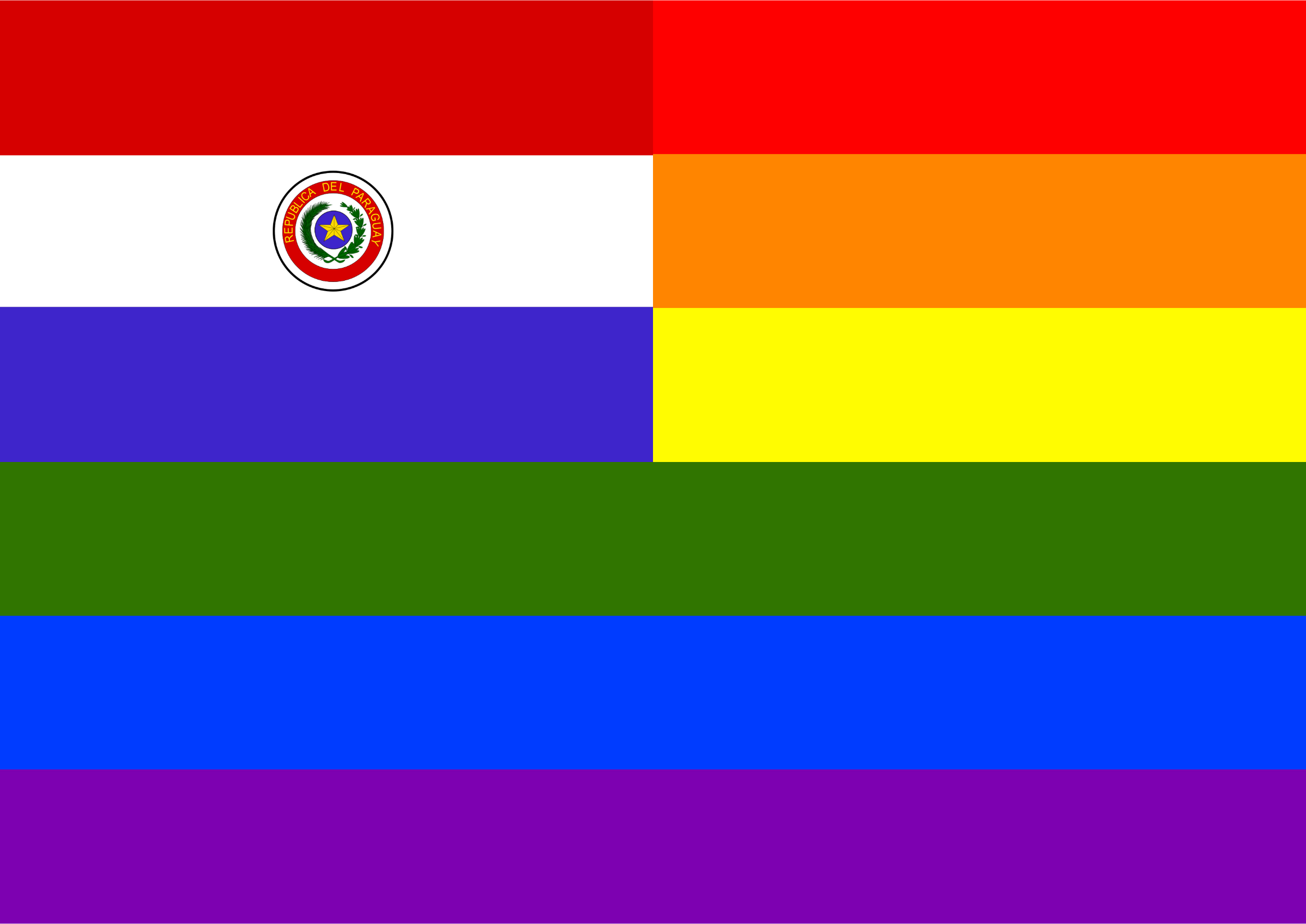 Rainbow Flag Paraguay by Hirnlichtspiele