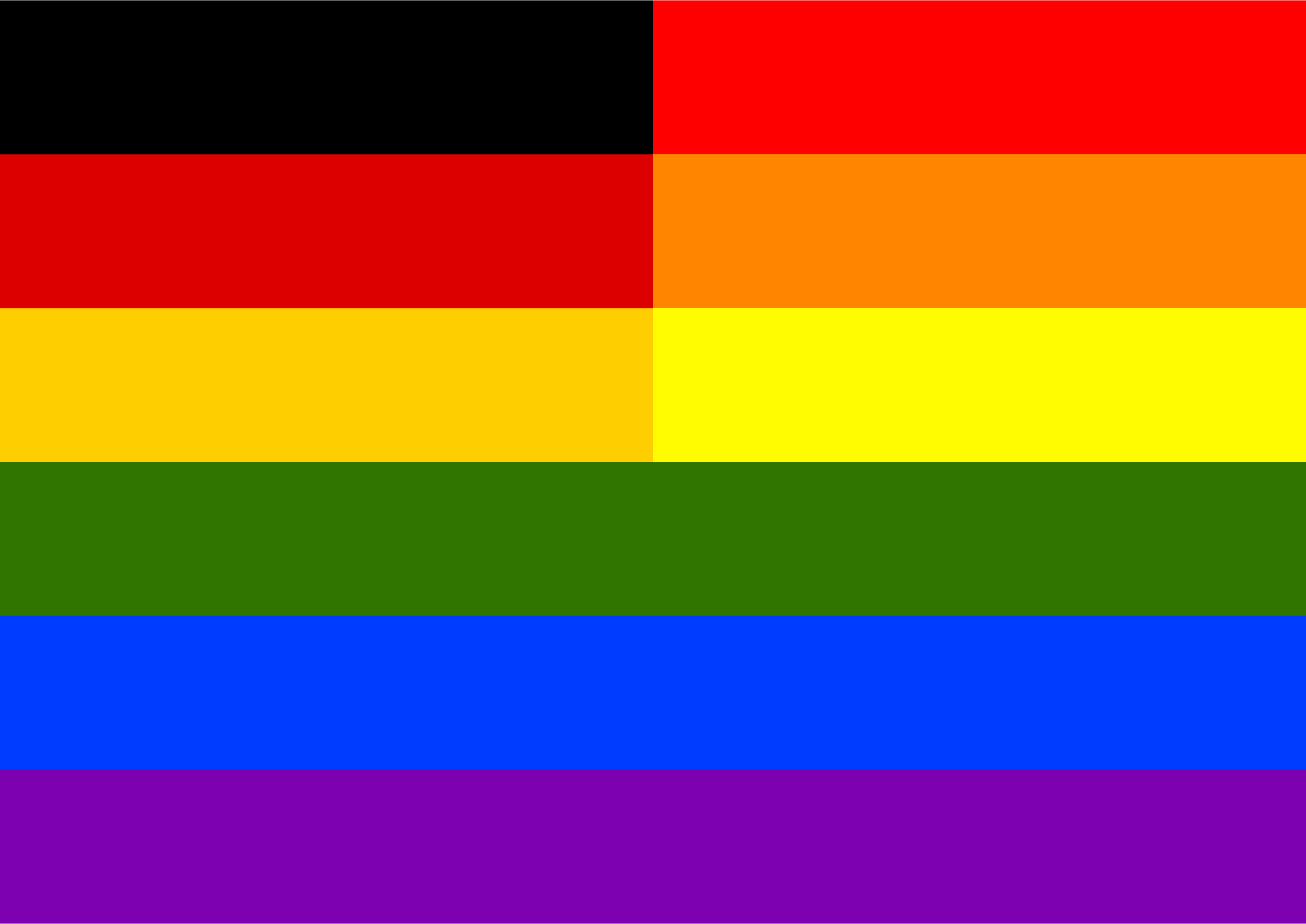 Rainbow Flag Germany by Hirnlichtspiele