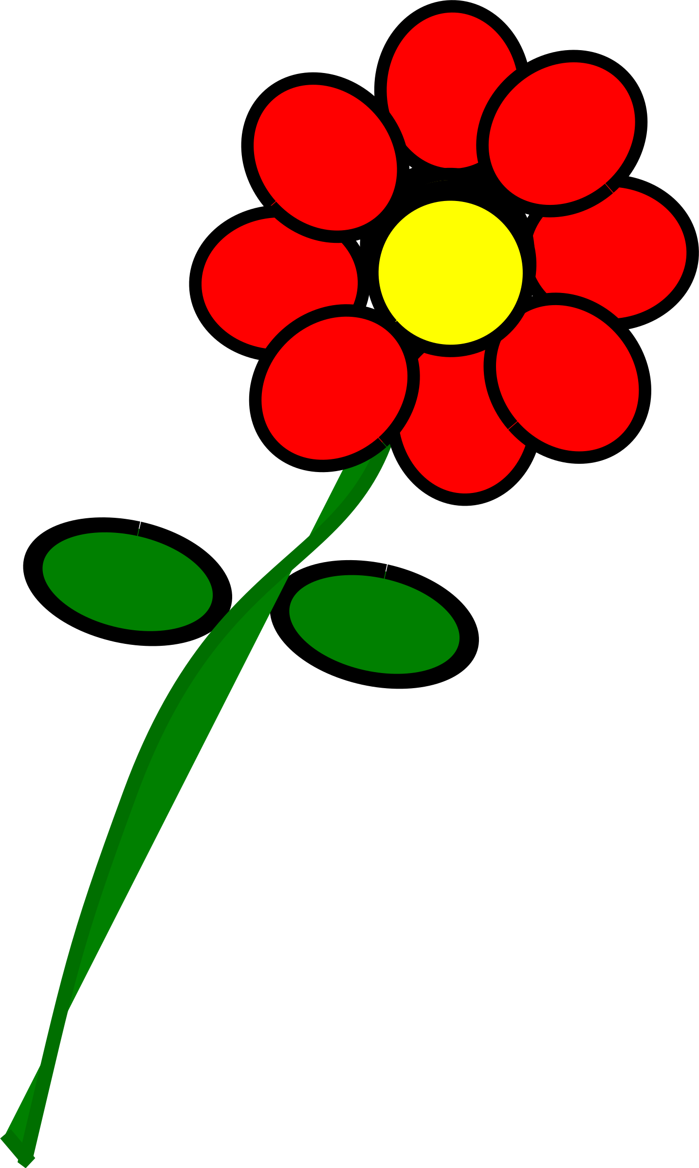 Flower 4 red by BAJ