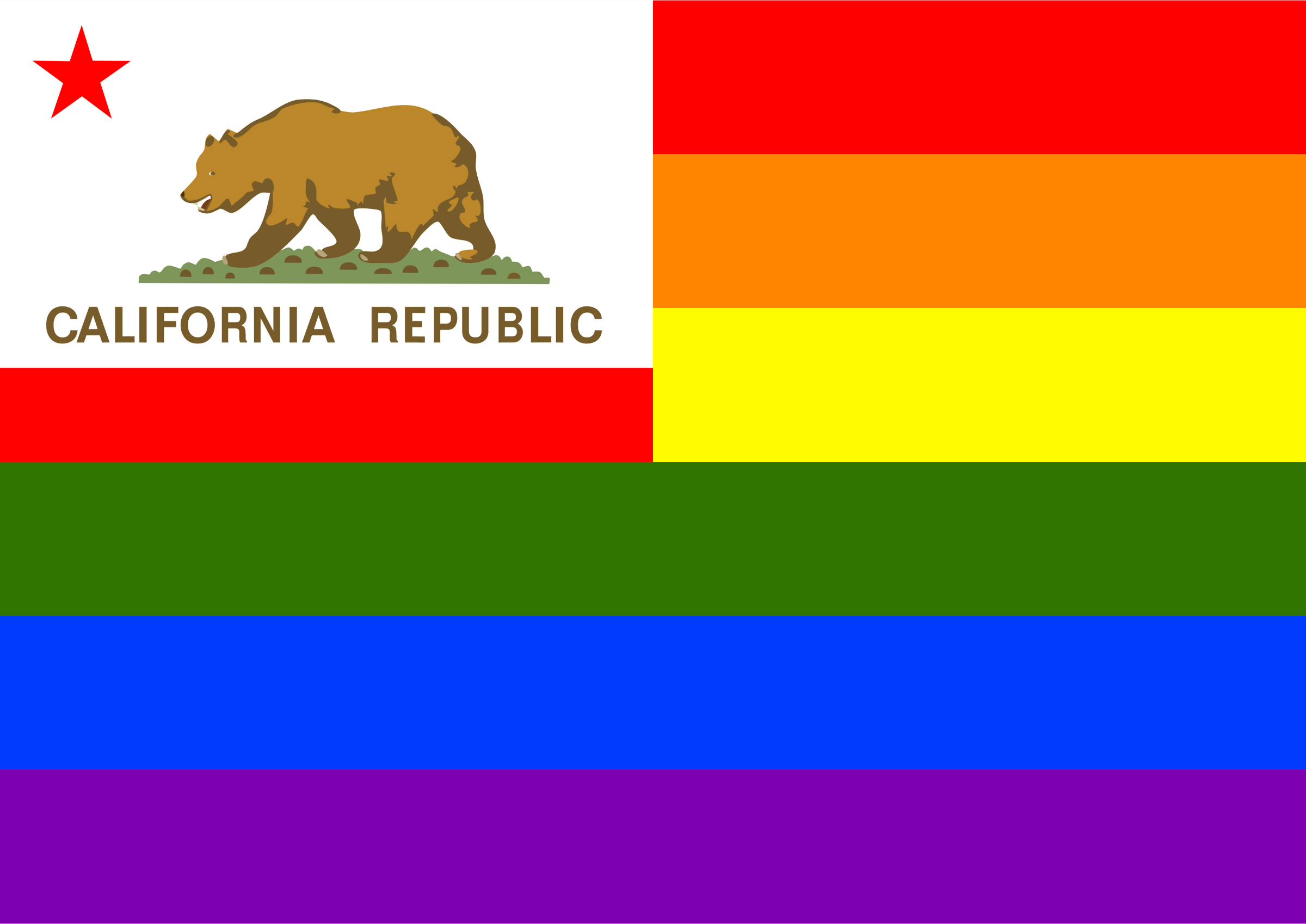 Rainbow Flag California by Hirnlichtspiele