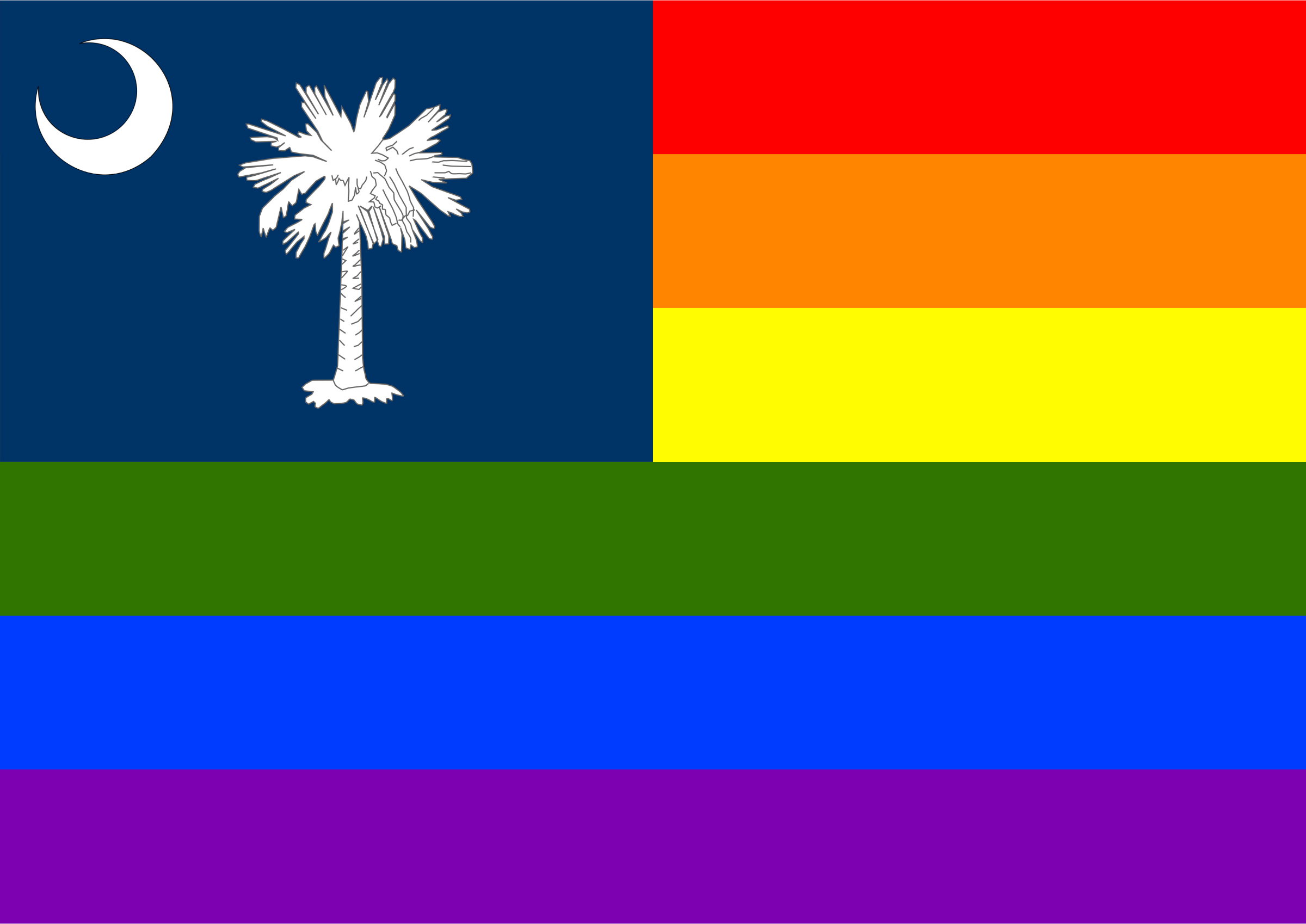 Rainbow Flag South Carolina 1 by Hirnlichtspiele