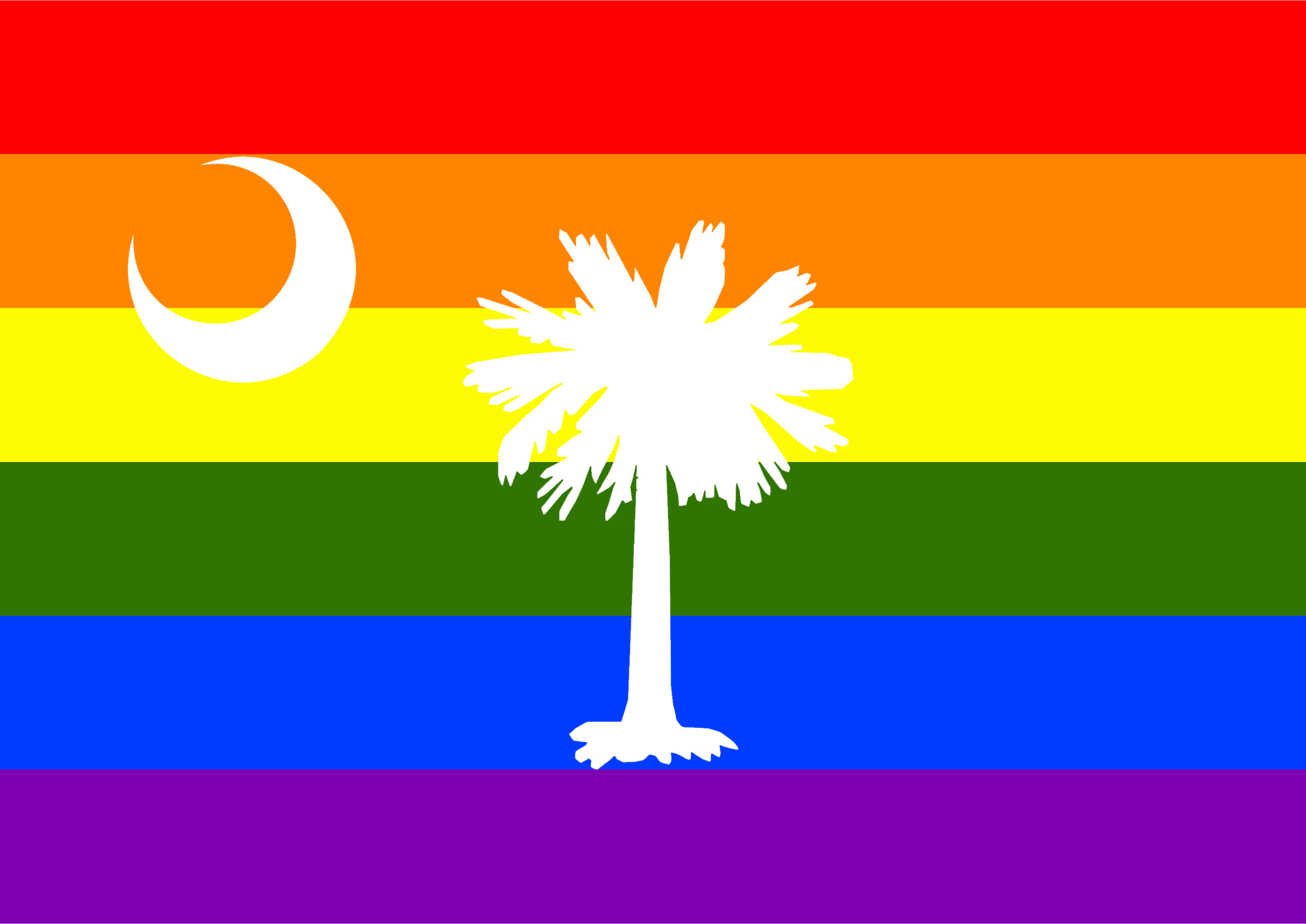 Rainbow Flag South Carolina 2 by Hirnlichtspiele