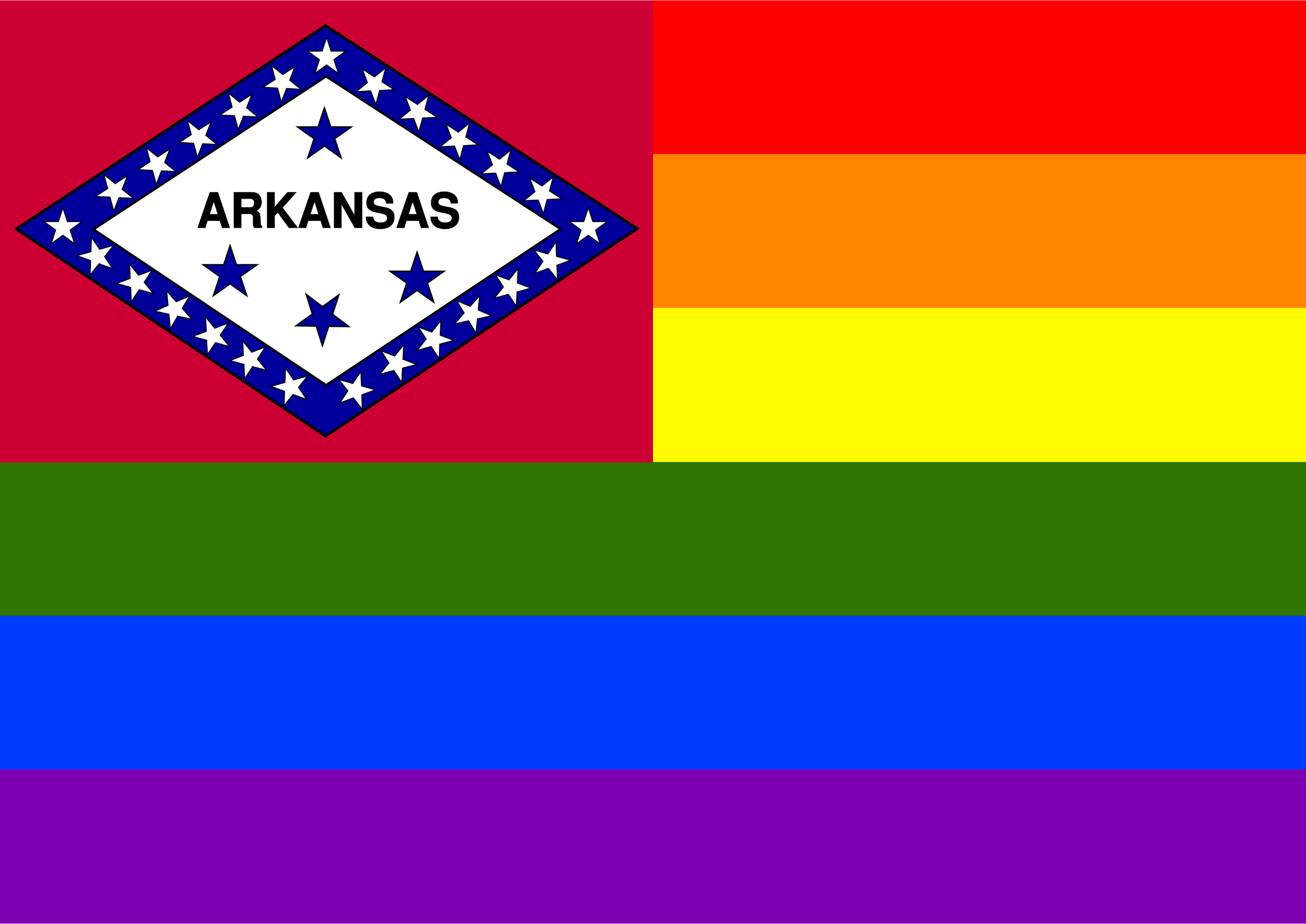 Rainbow Flag Arkansas 1 by Hirnlichtspiele