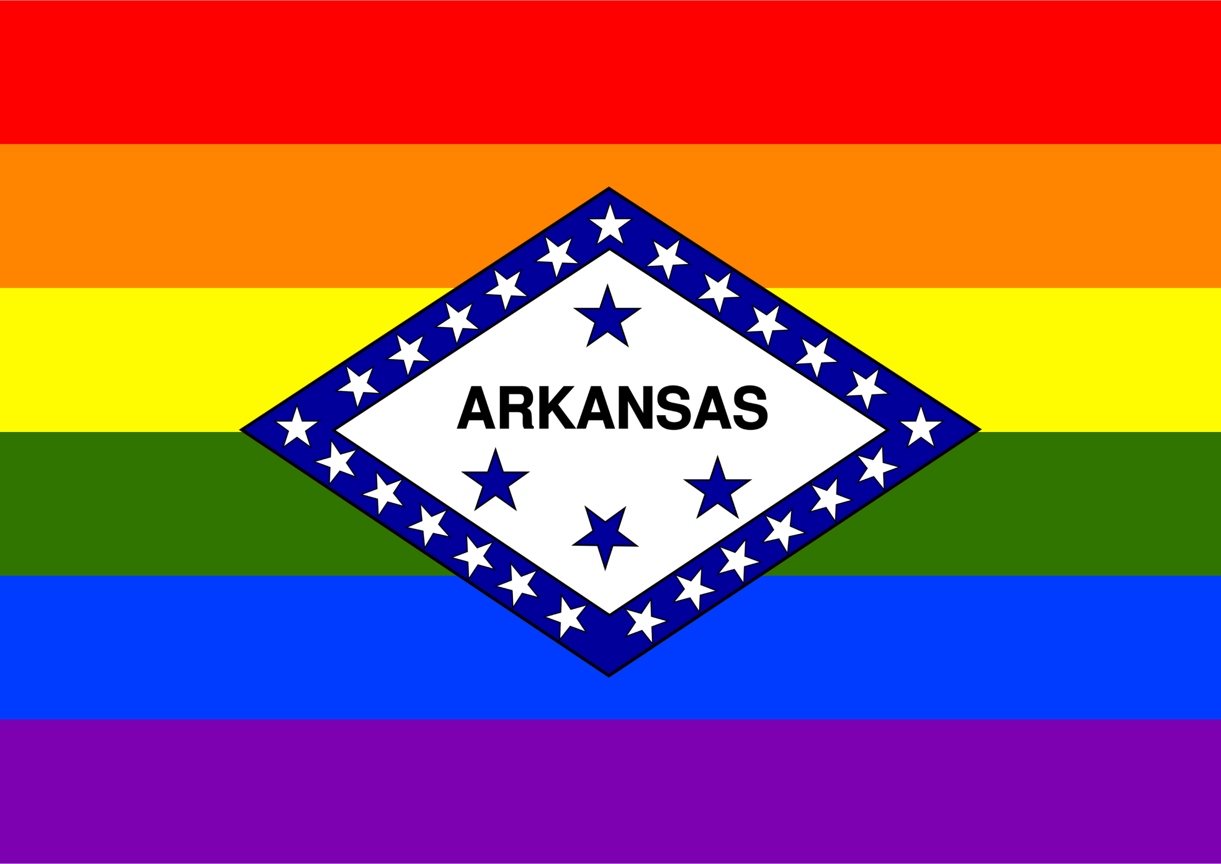 Rainbow Flag Arkansas 2 by Hirnlichtspiele