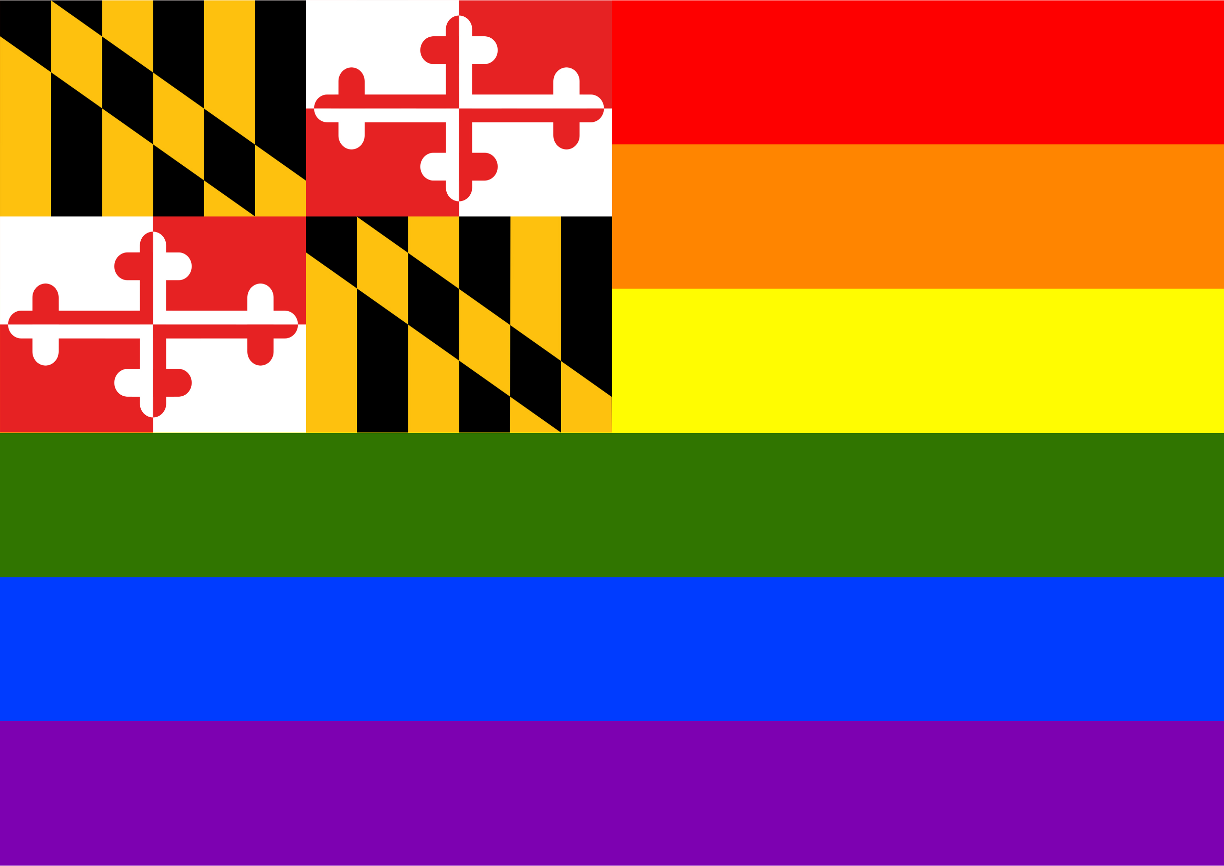 Rainbow Flag Maryland by Hirnlichtspiele