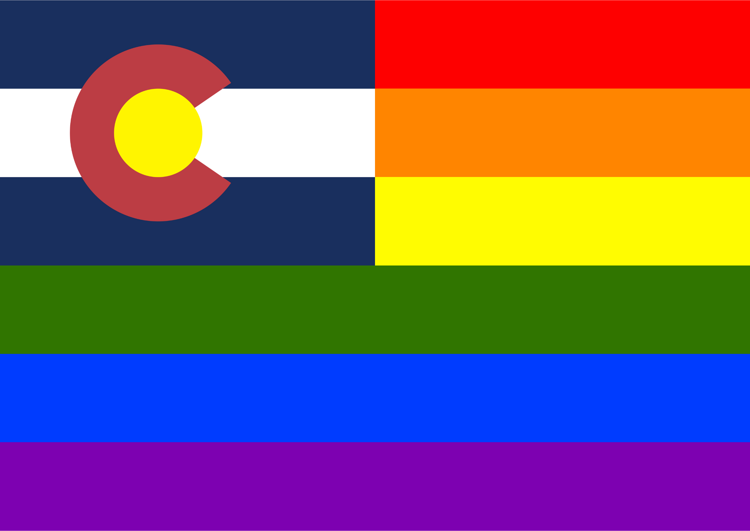 Rainbow Flag Colorado by Hirnlichtspiele