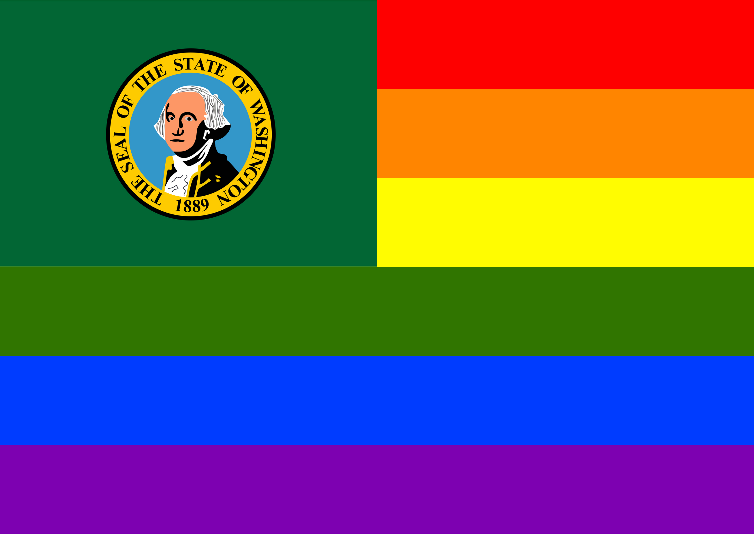 Rainbow Flag Washington 1 by Hirnlichtspiele