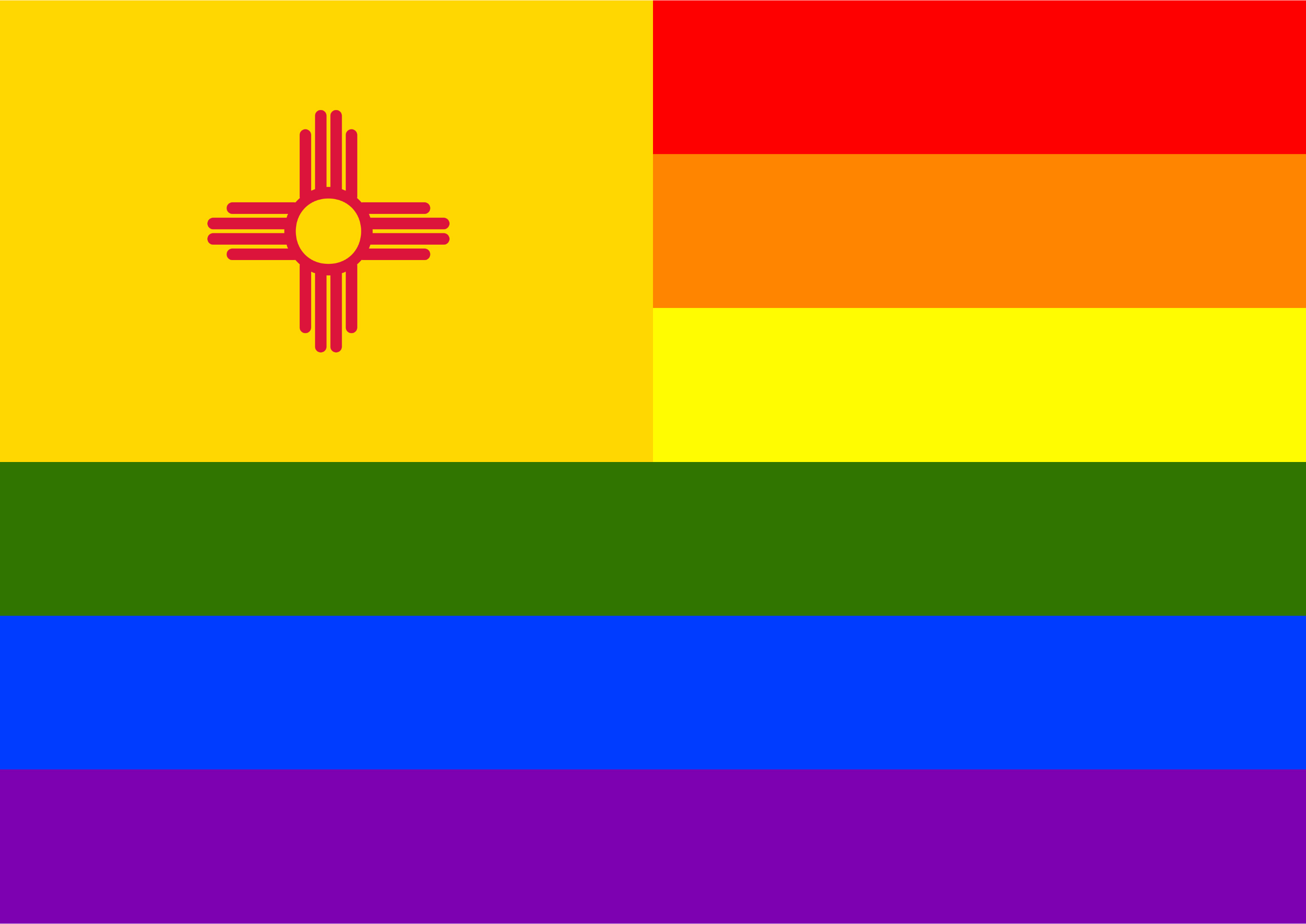 Rainbow Flag New Mexico by Hirnlichtspiele