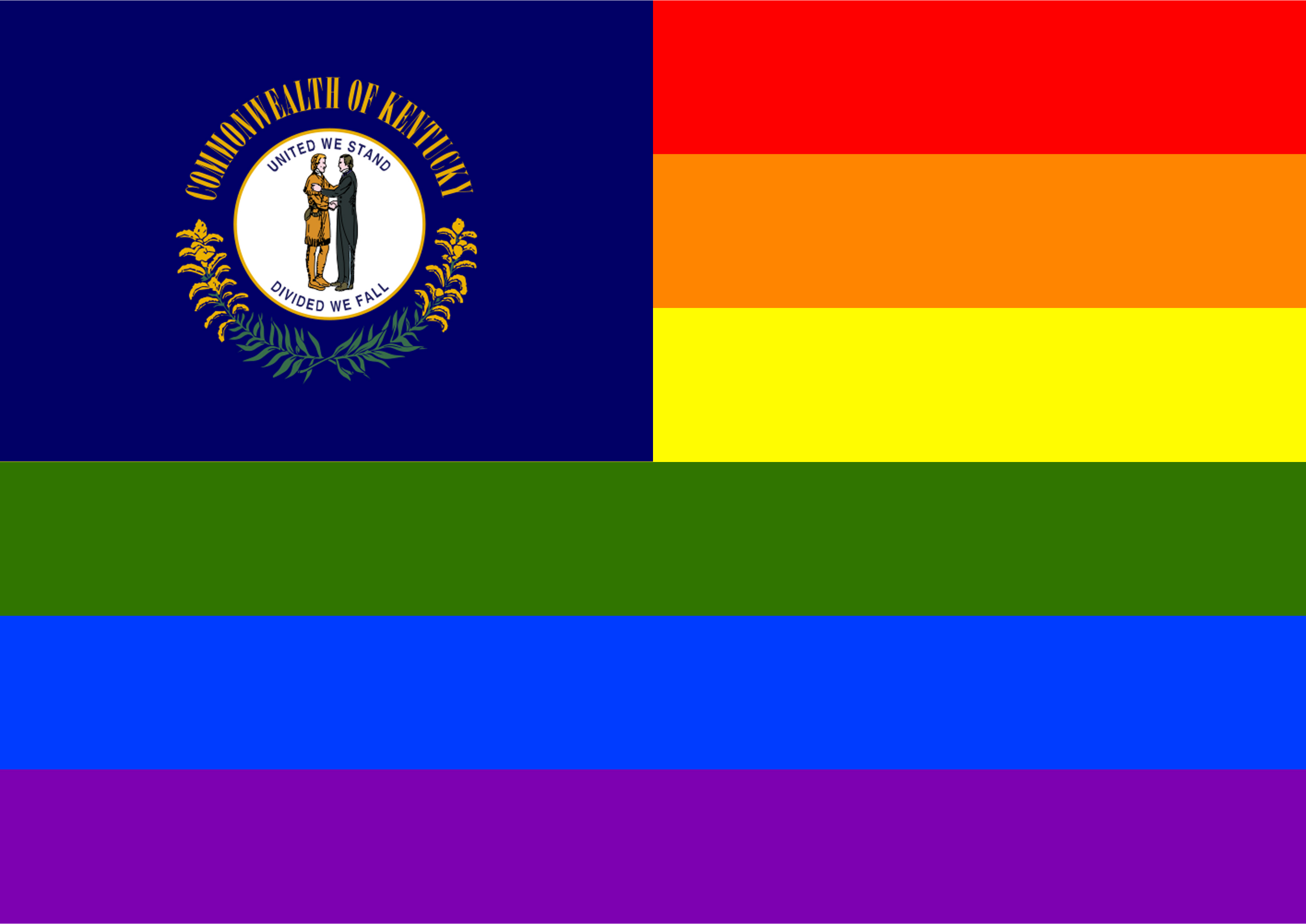 Rainbow Flag Kentucky by Hirnlichtspiele