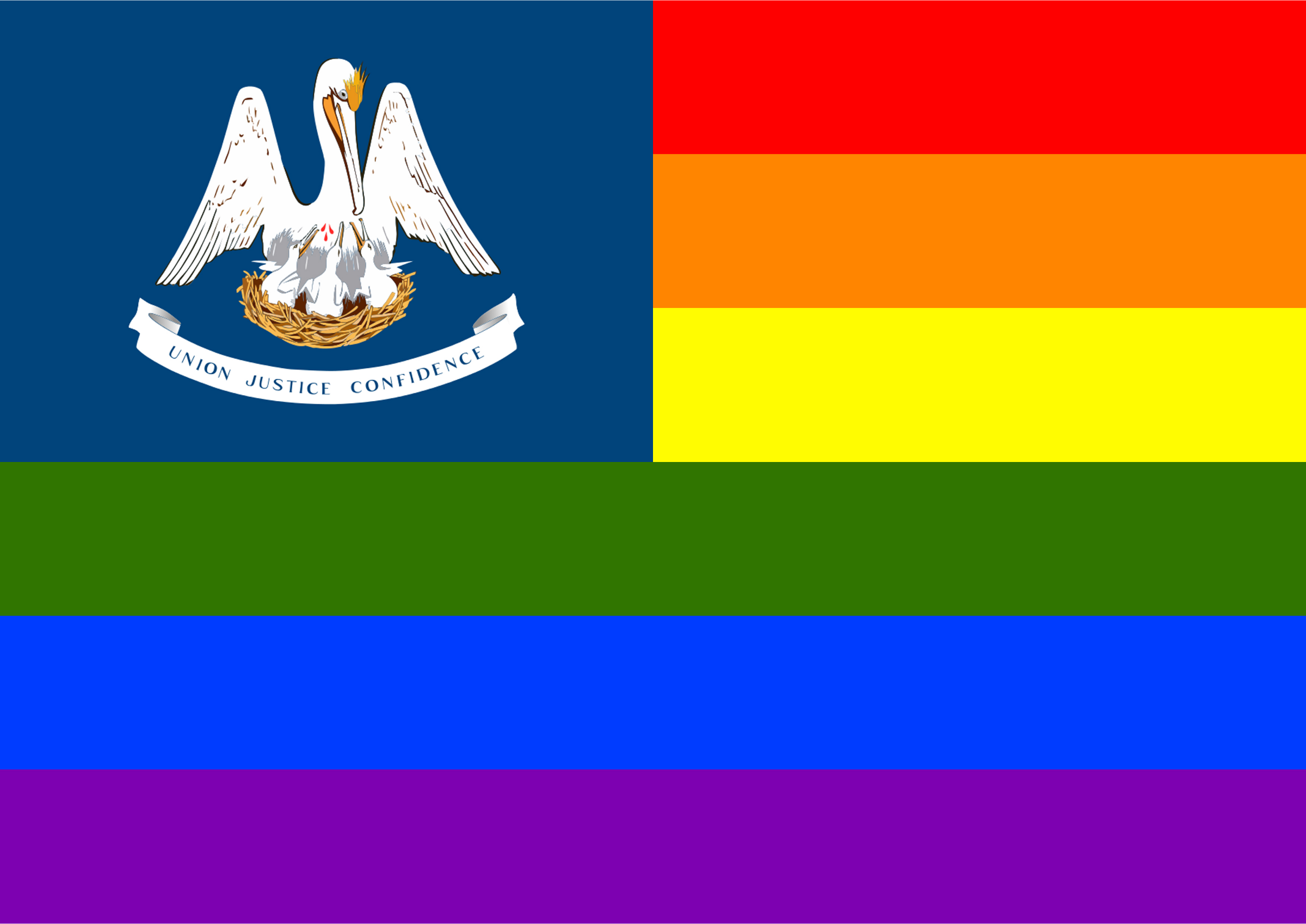 Rainbow Flag Louisiana by Hirnlichtspiele