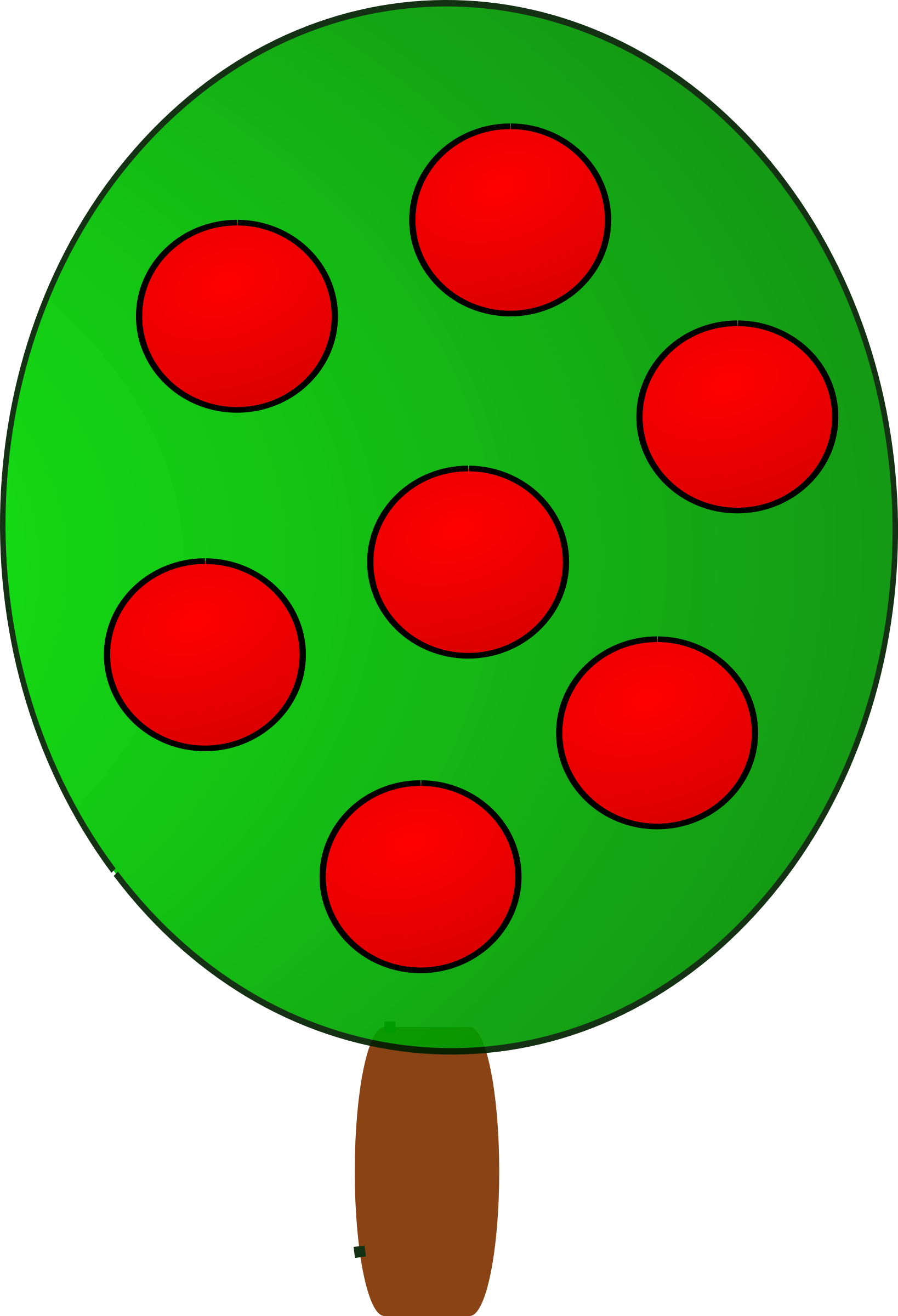 Fruit tree 2, red by BAJ