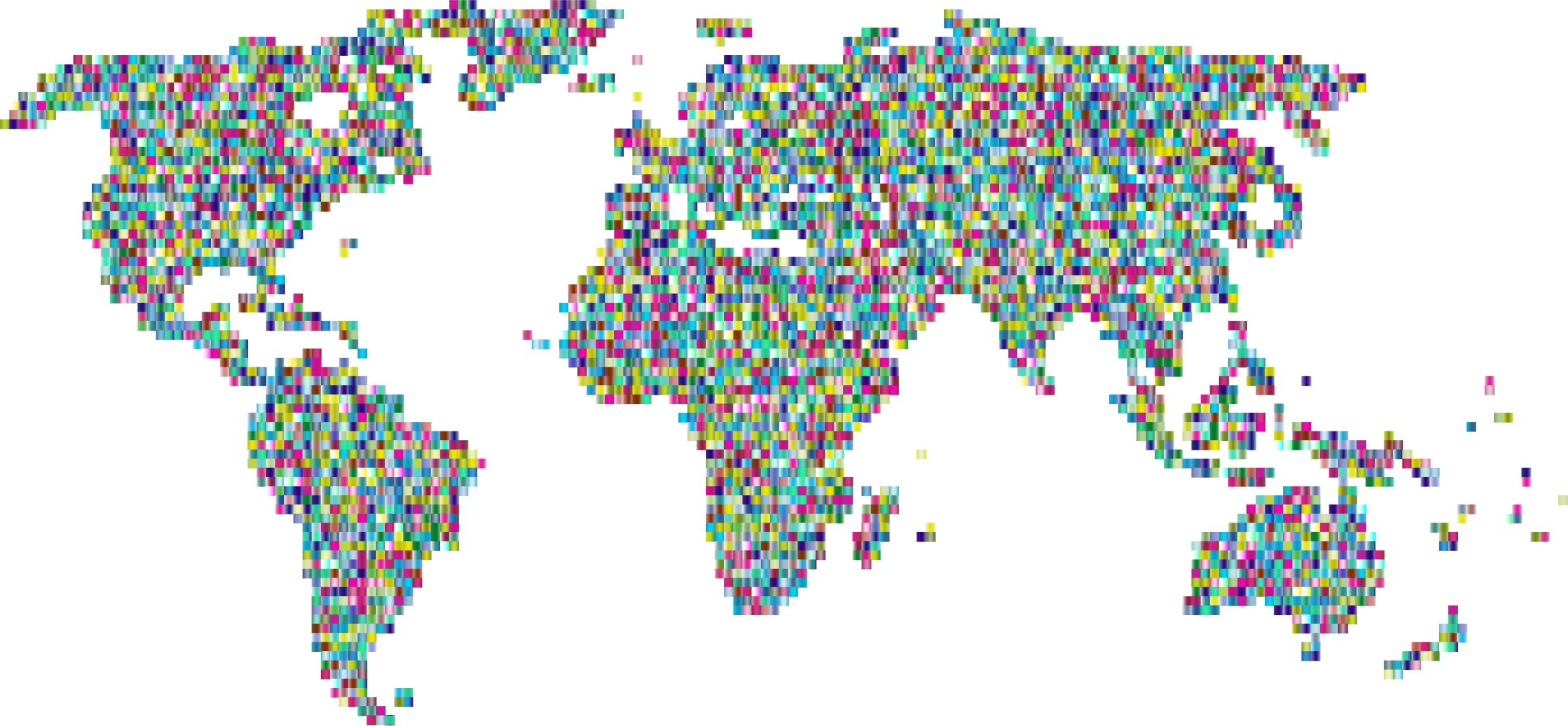 Prismatic Mosaic World Map 3 by GDJ