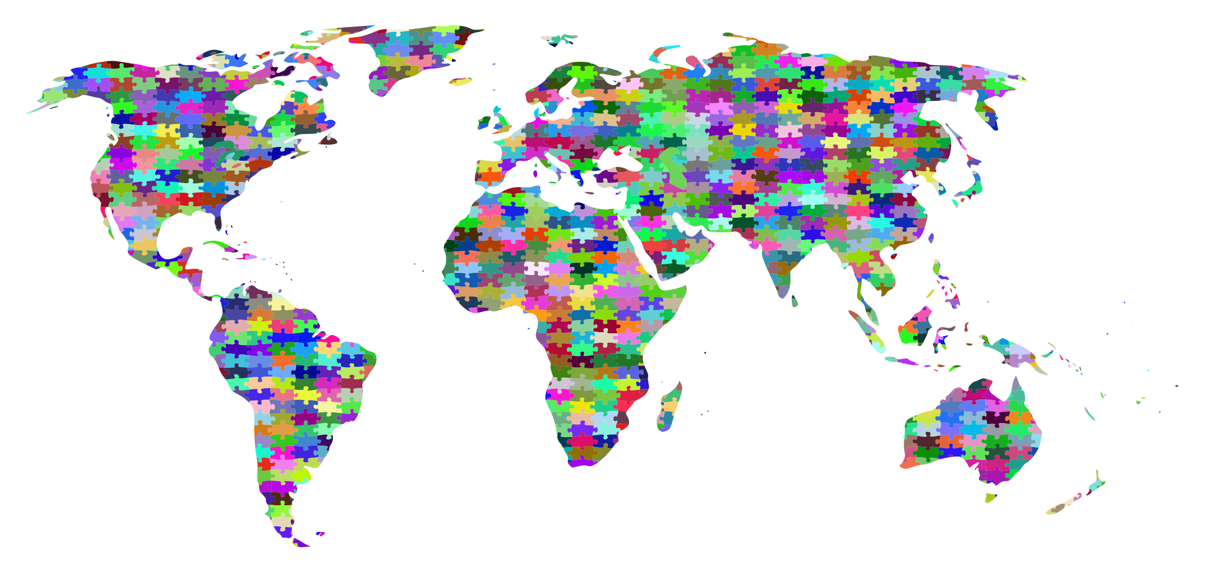 Prismatic Jigsaw Puzzle World Map by GDJ