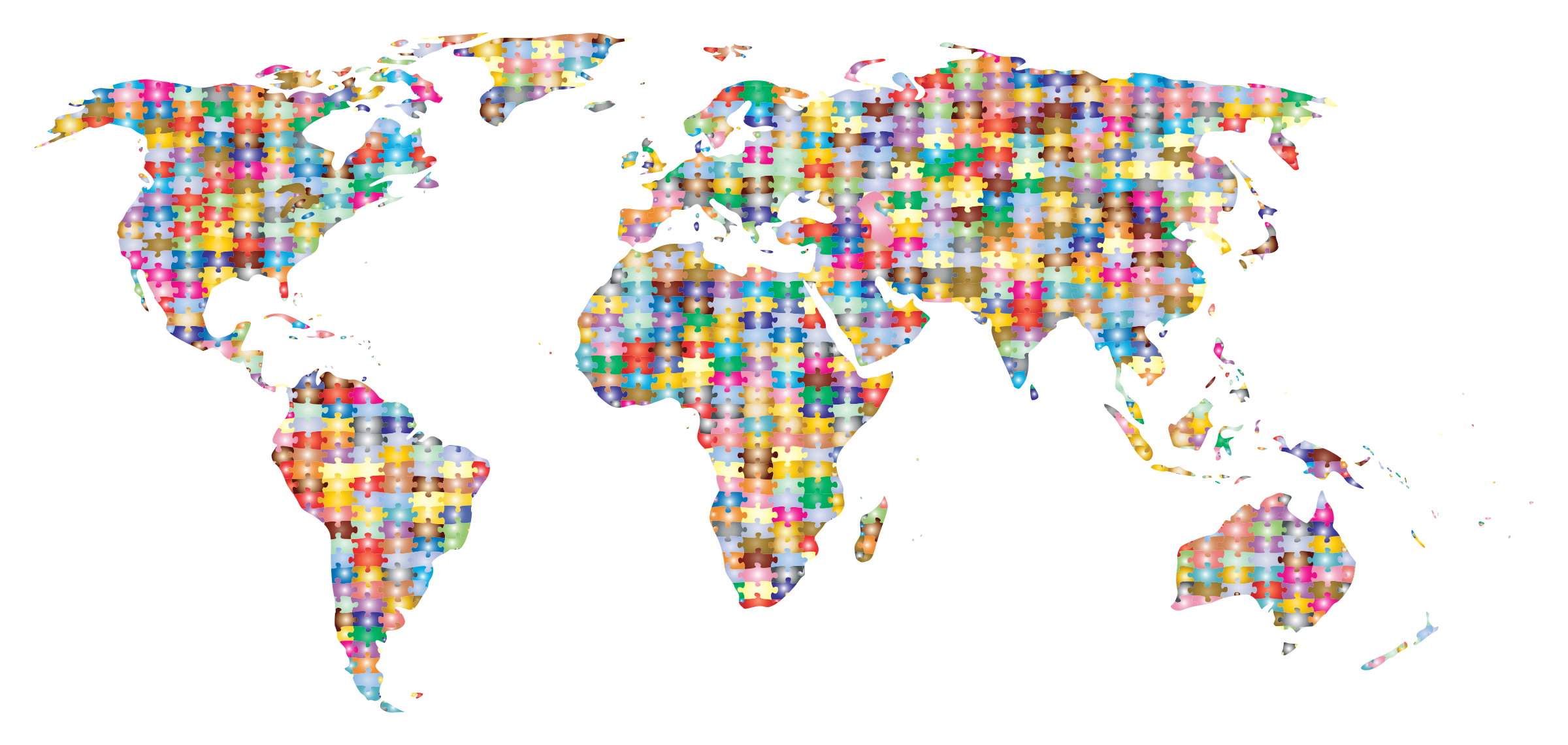 Clipart prismatic jigsaw puzzle world map 3 prismatic jigsaw puzzle world map 3 gumiabroncs Images