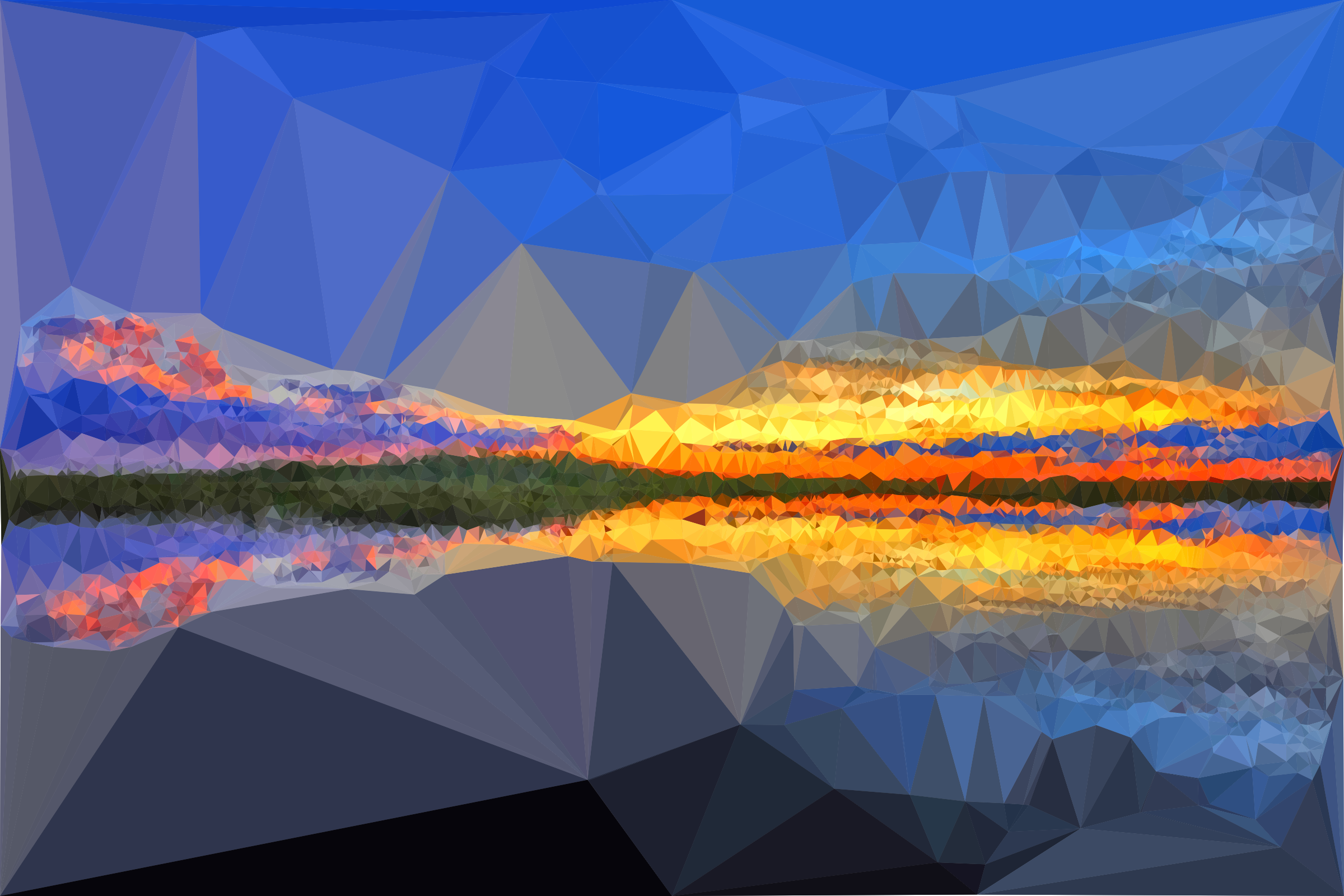 Low Poly Everglades Sunset by GDJ