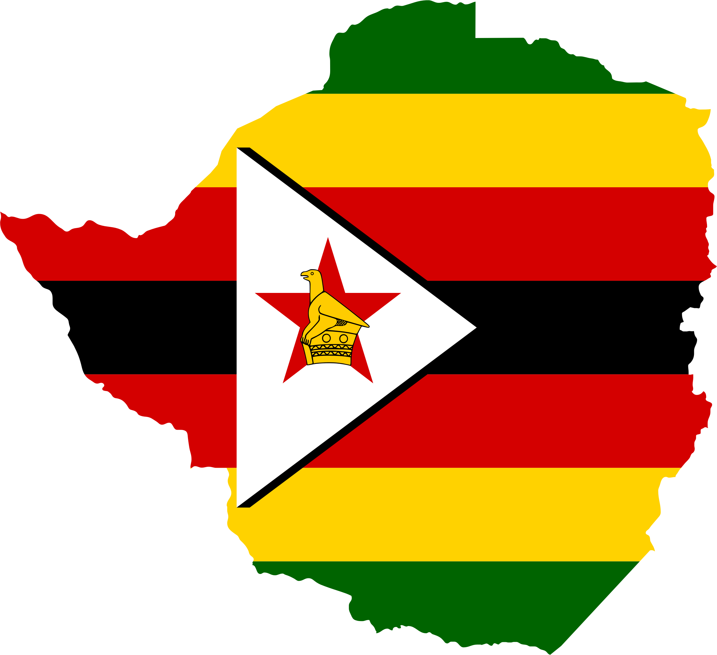 Image result for zimbabwe flag map