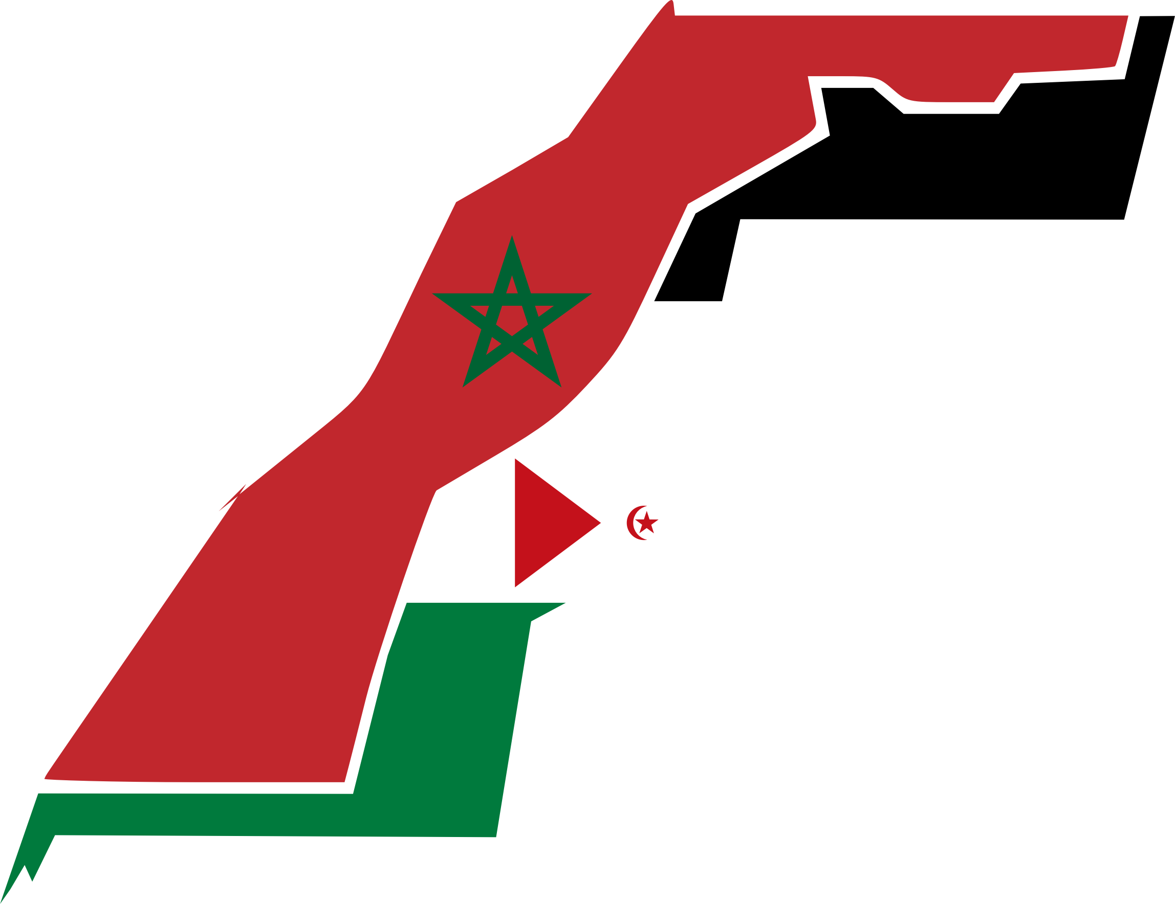 Western Sahara Flag Map by GDJ