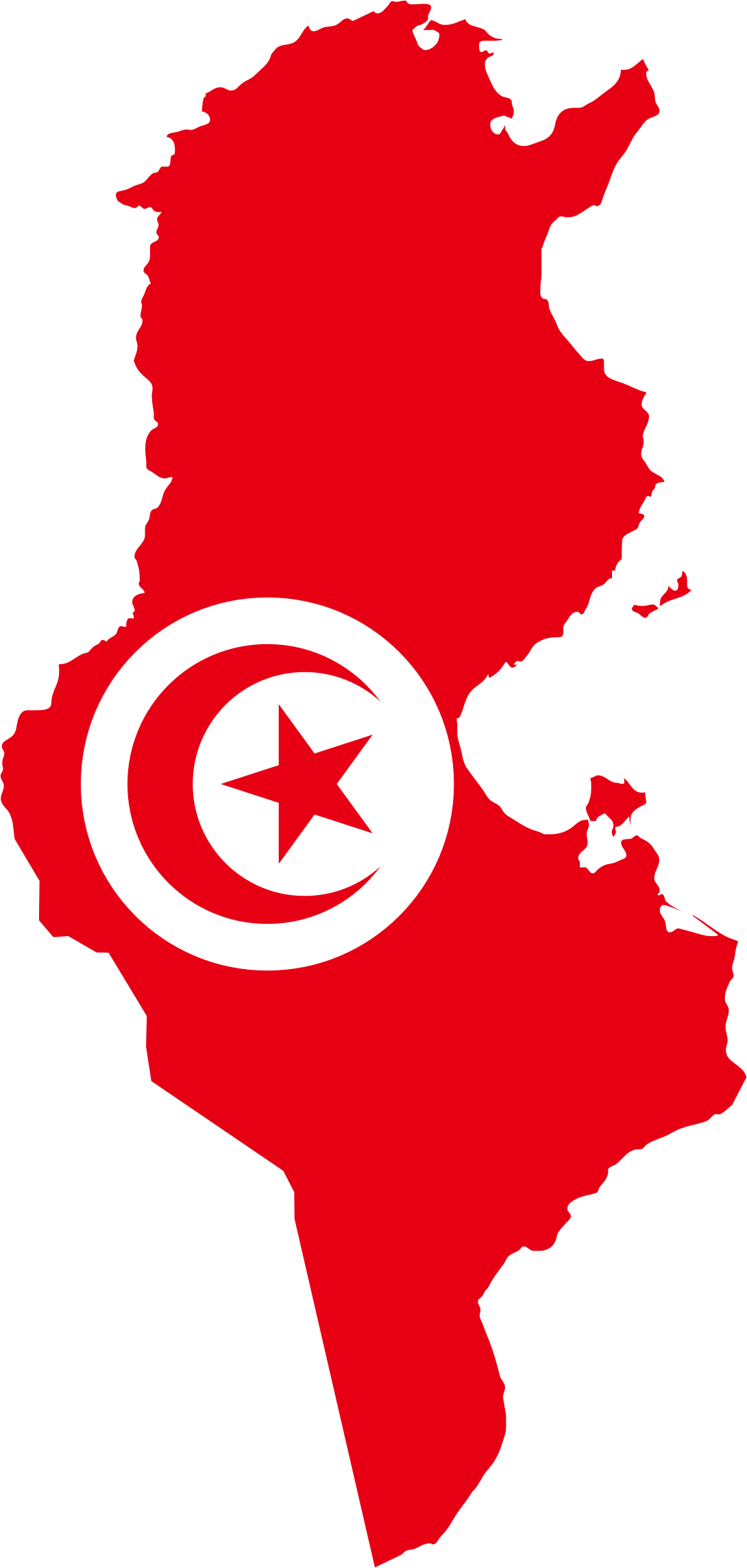 clipart tunisia flag map