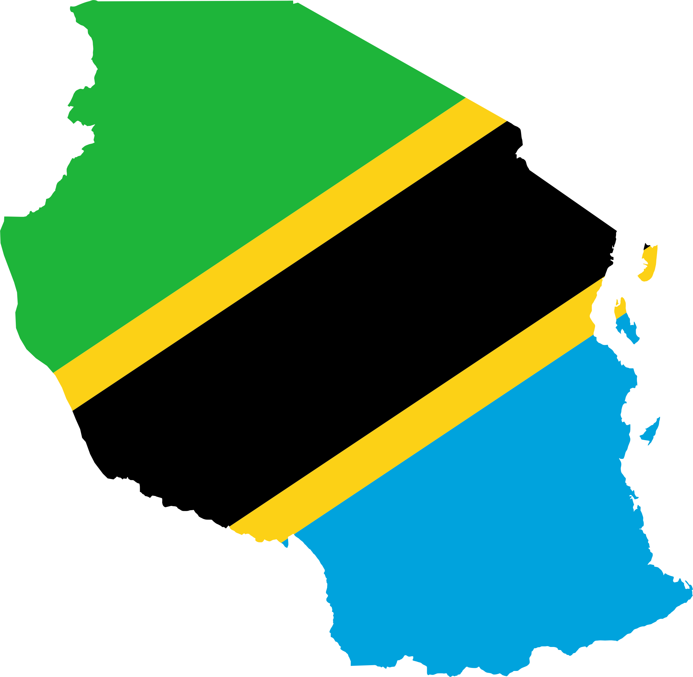 Tanzania Flag Map by GDJ