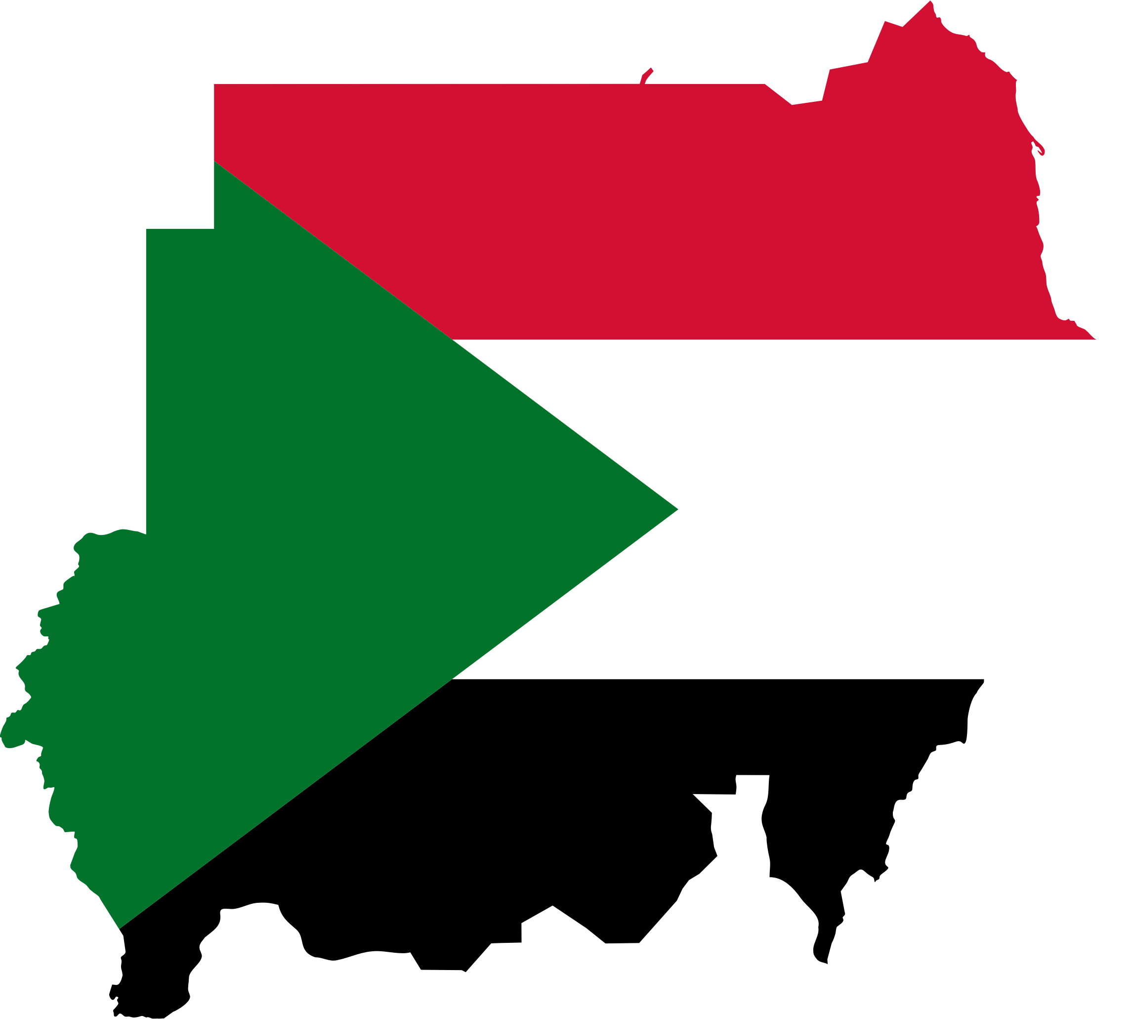 Sudan Flag Map by GDJ