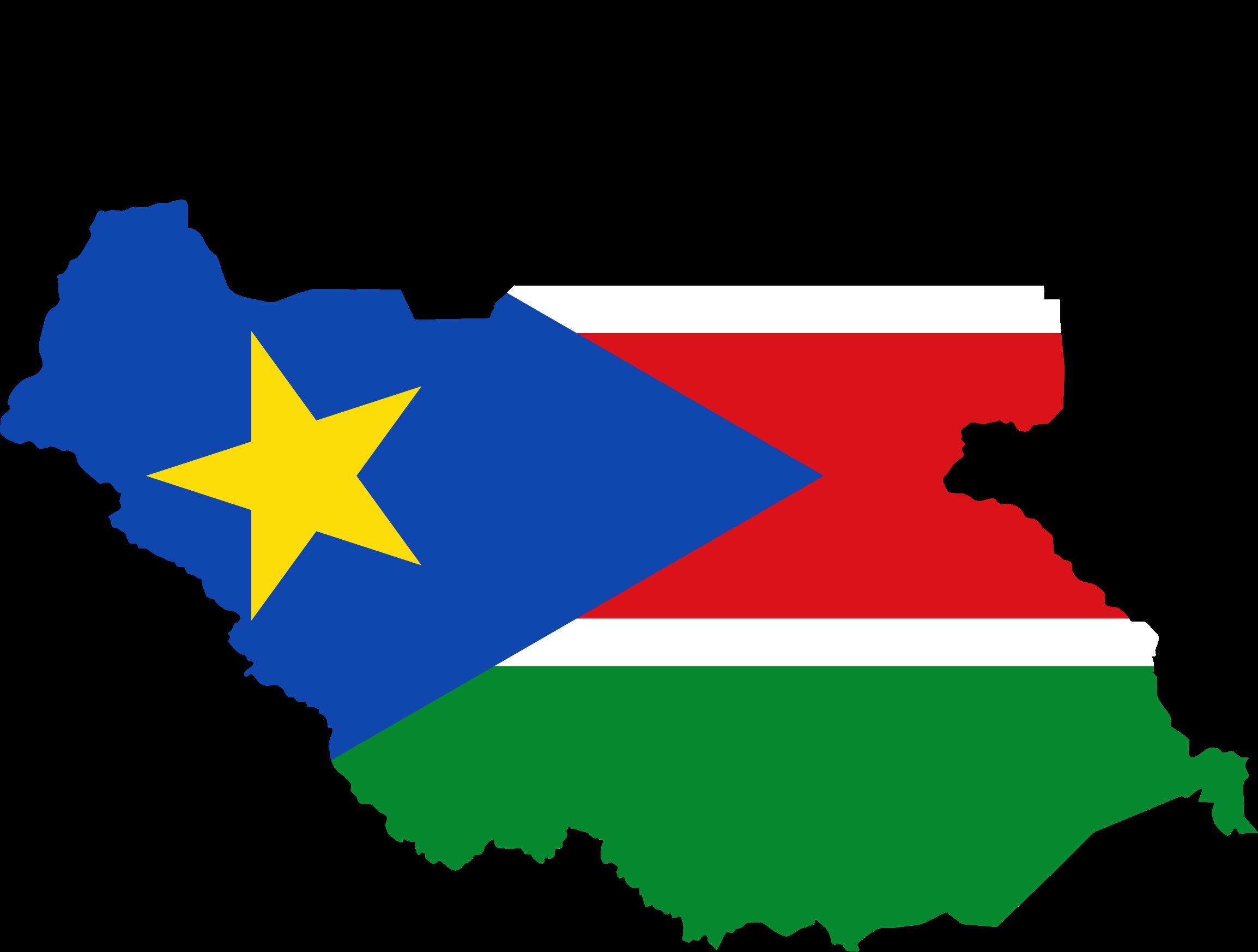 Clipart South Sudan Flag Map