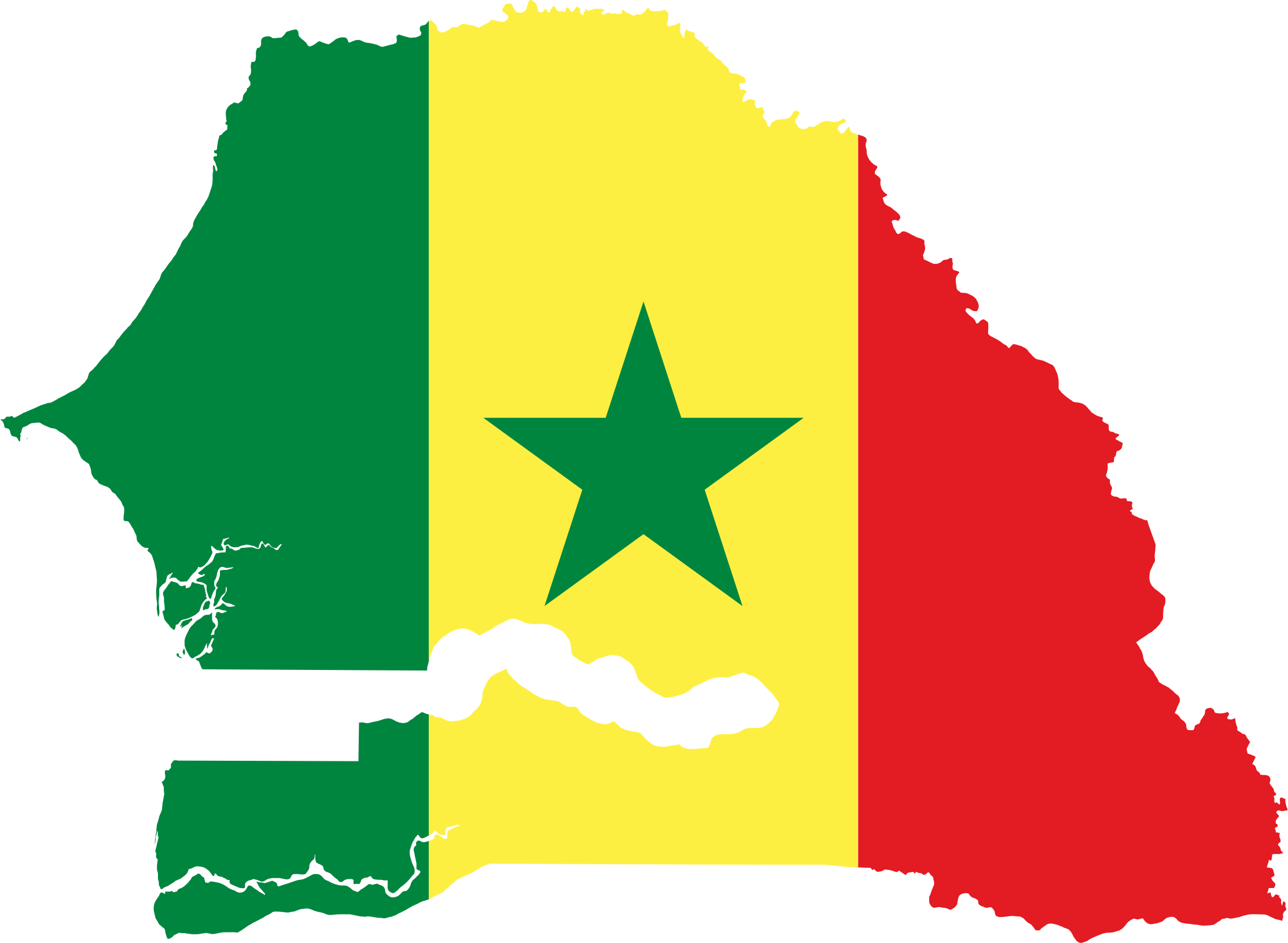 Clipart - Senegal Flag Map