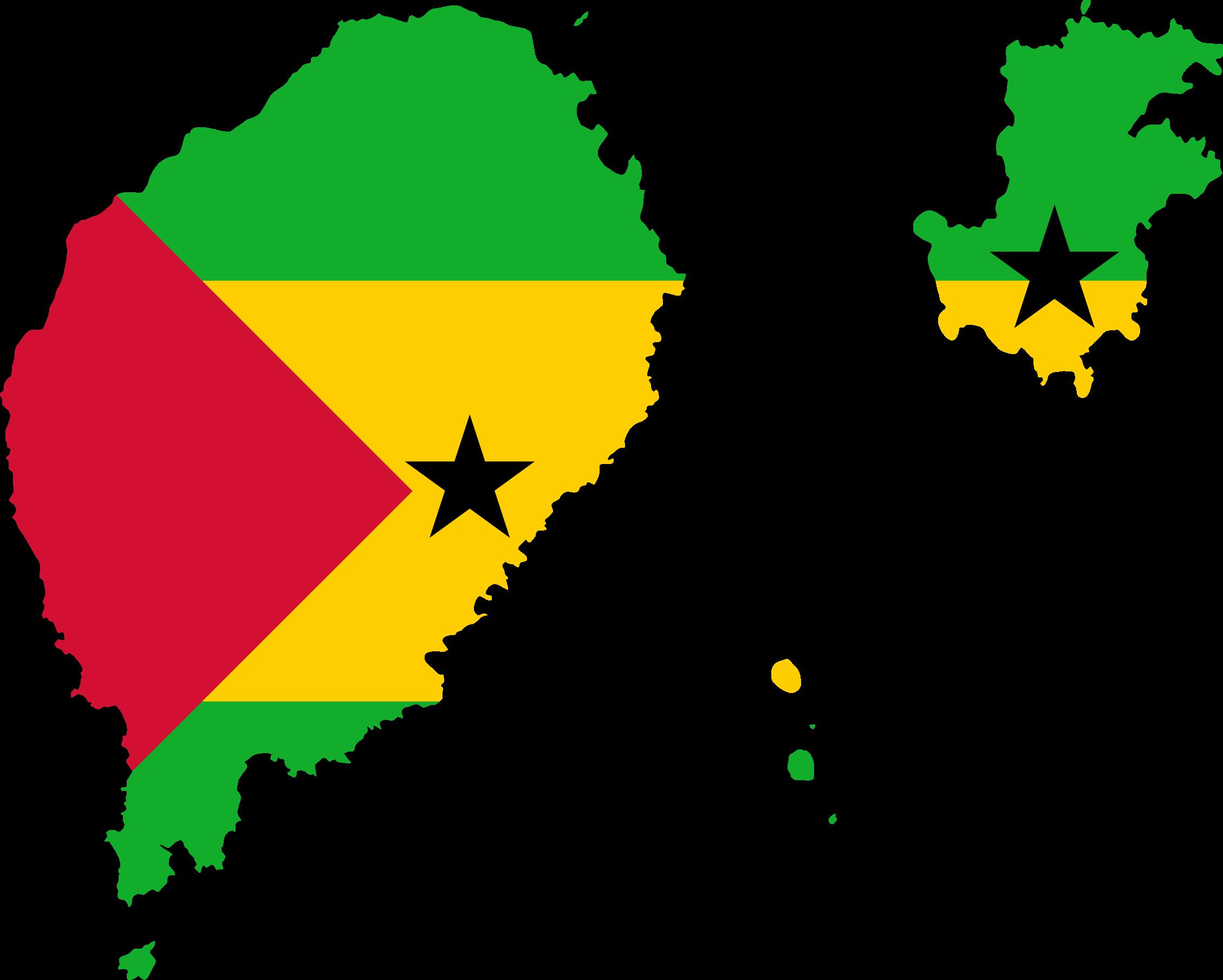 Clipart Sao Tome And Principe Flag Map - Sao tome and principe map