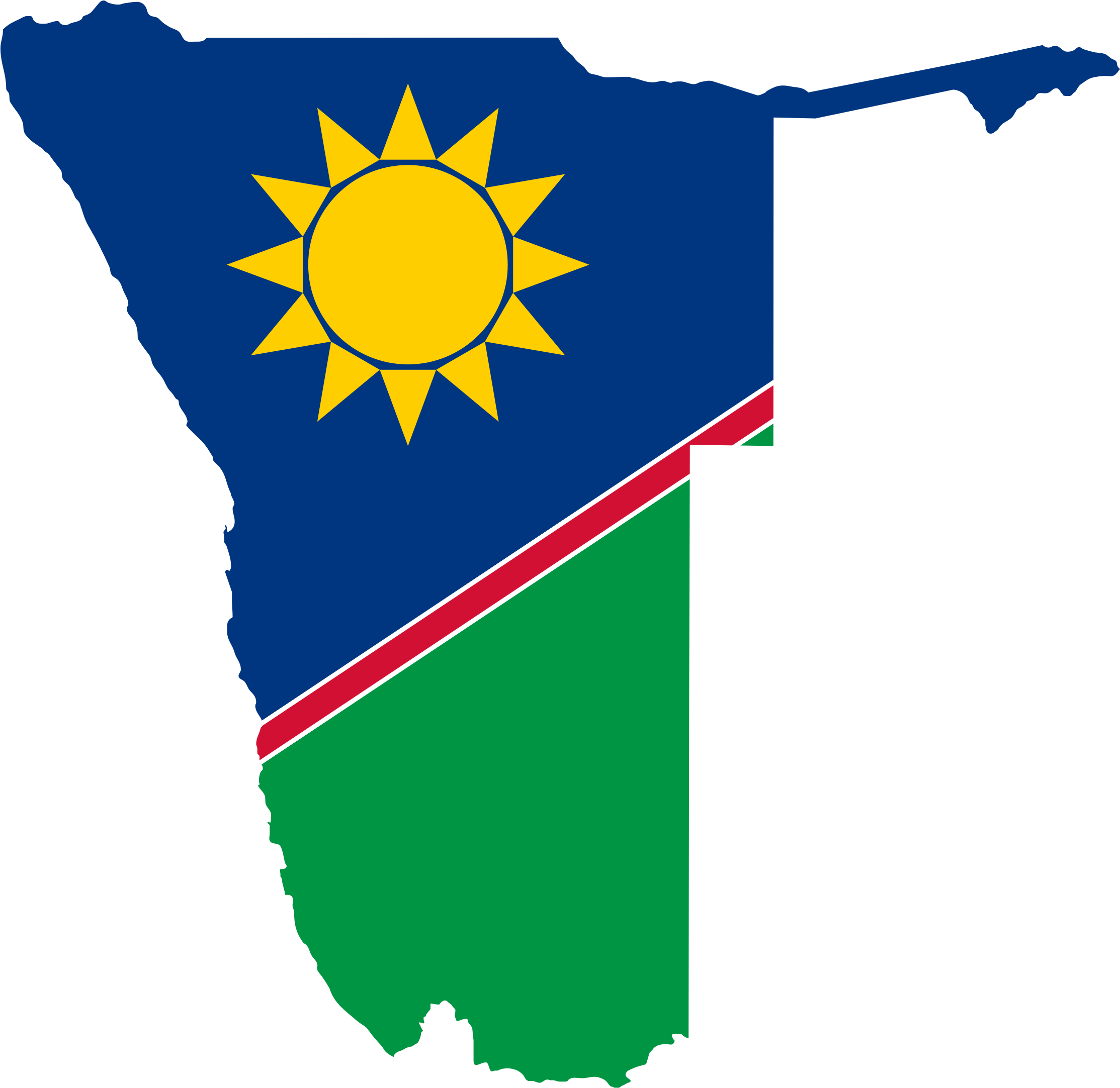 Namibia Flag Map by GDJ