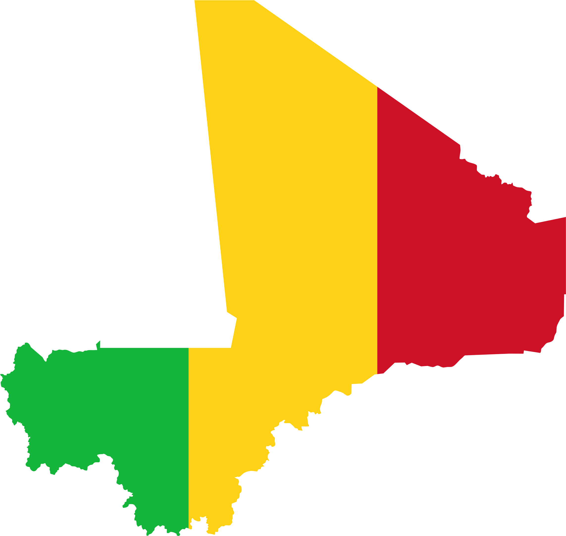 Mali Flag Map by GDJ