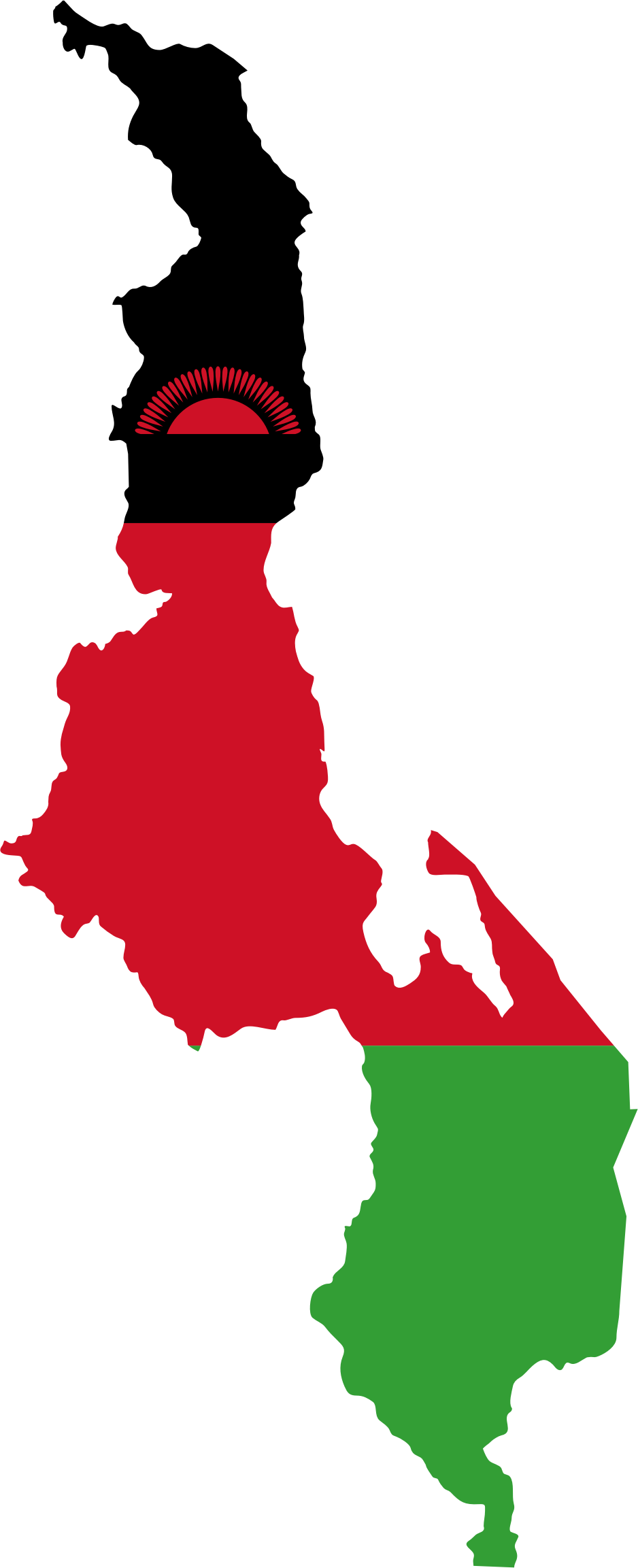 Malawi Flag Map by GDJ