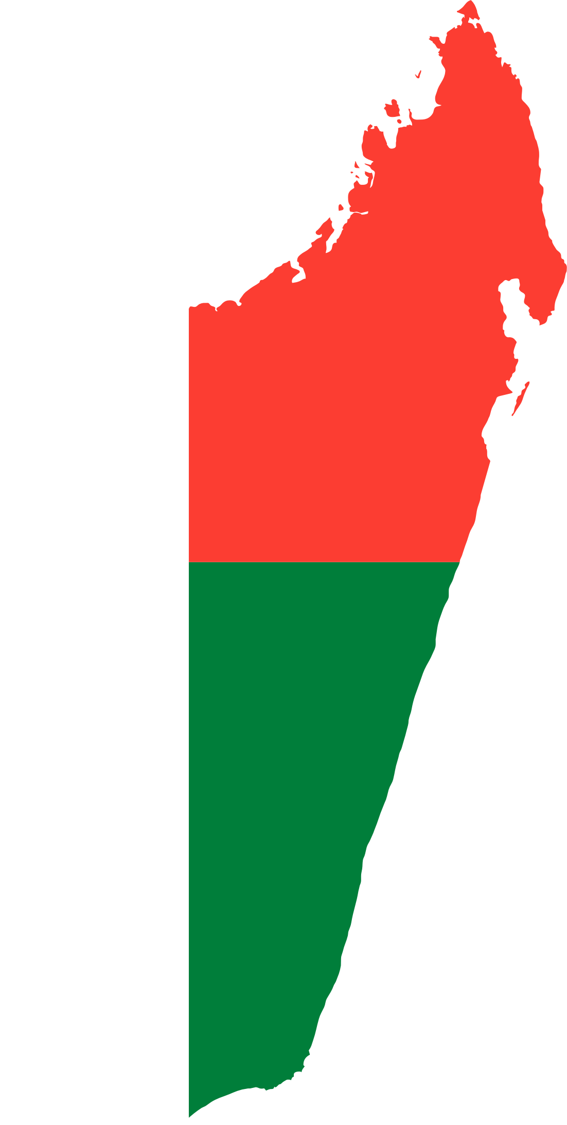 Madagascar Flag Map by GDJ