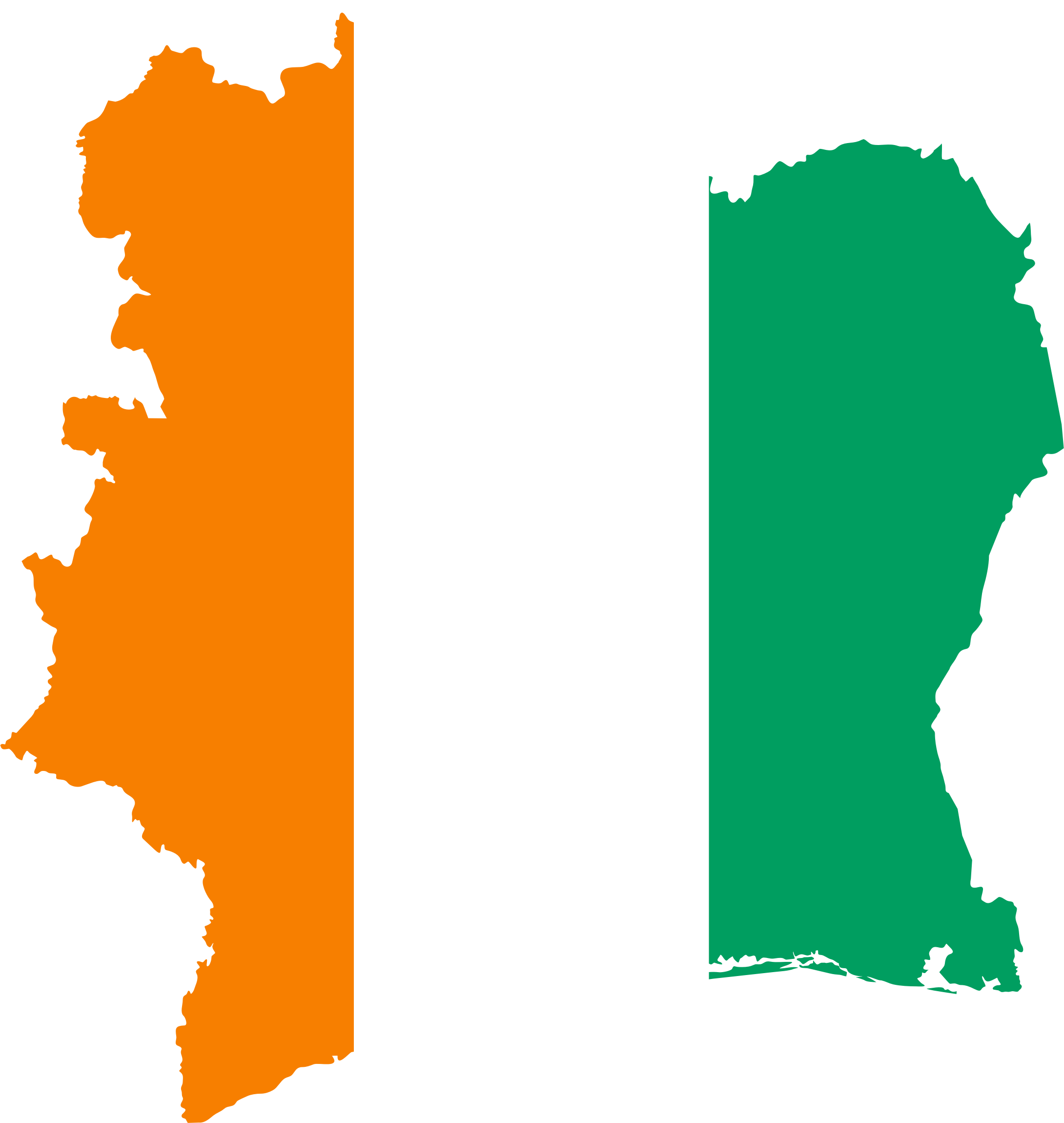Clipart Ivory Coast Flag Map
