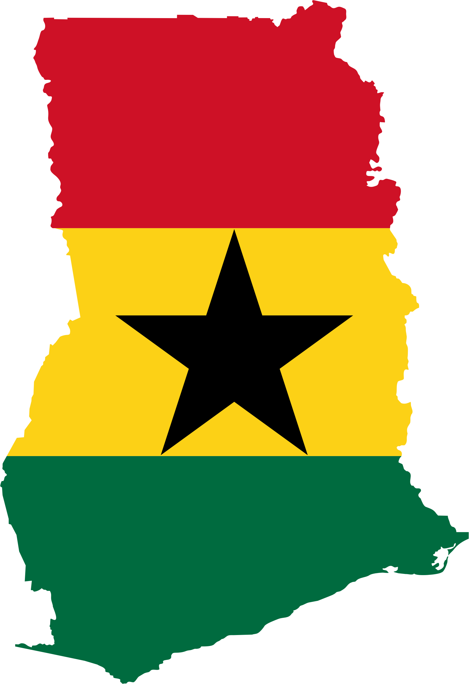 Ghana Flag Map by GDJ