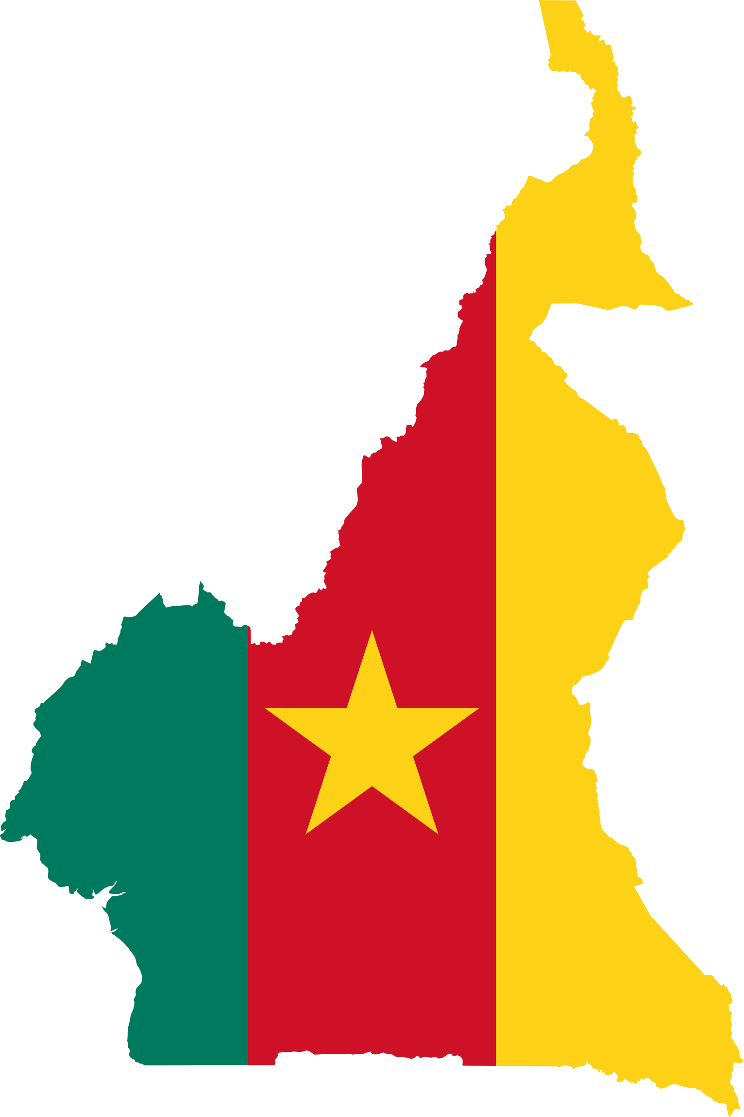 Cameroon Flag Map by GDJ