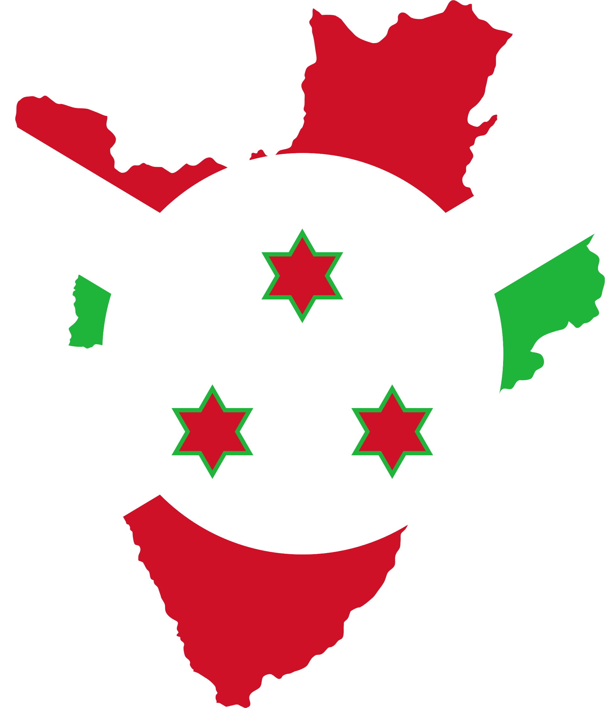Burundi Flag Map by GDJ