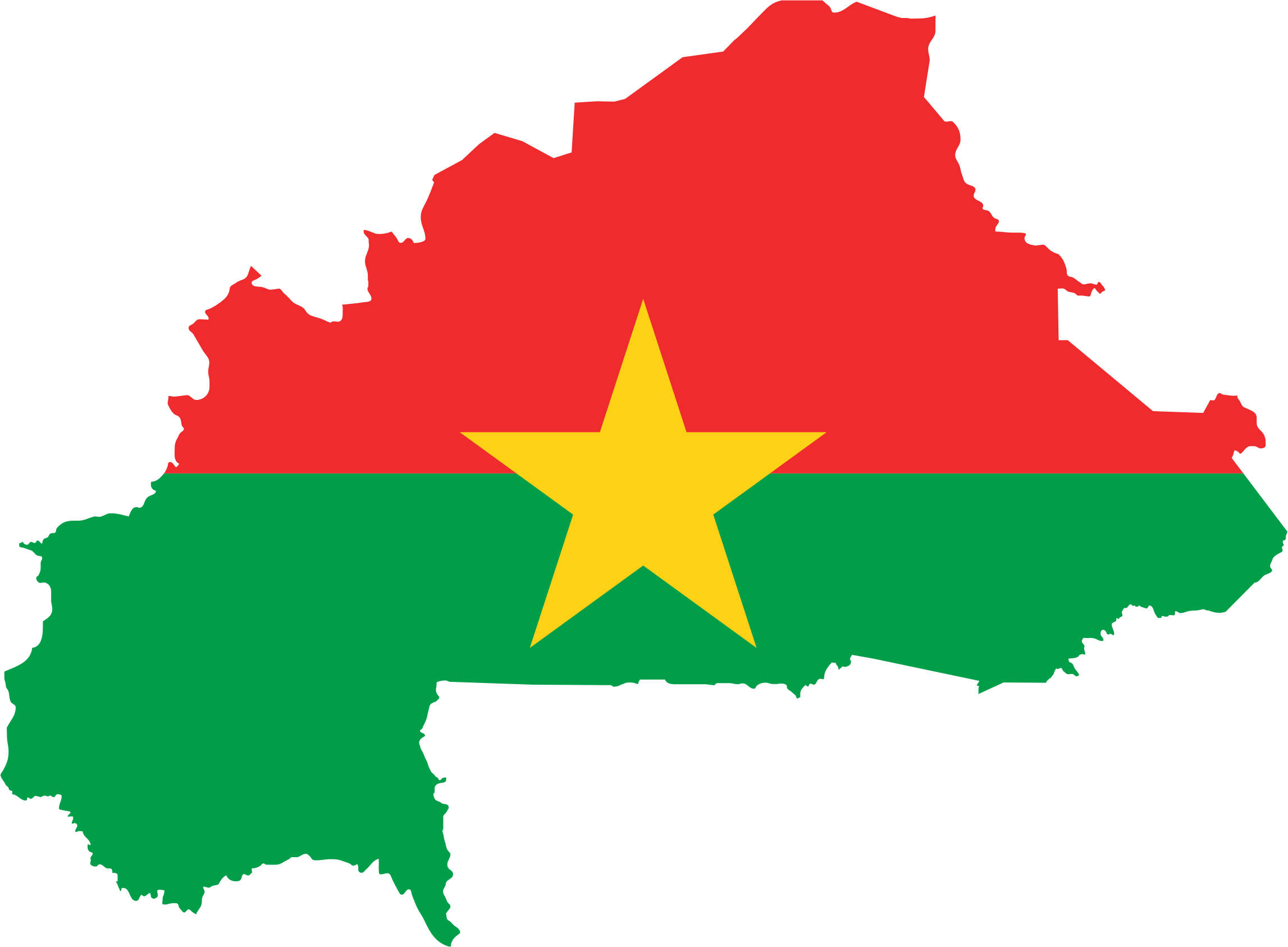 Burkina Faso Flag Map by GDJ