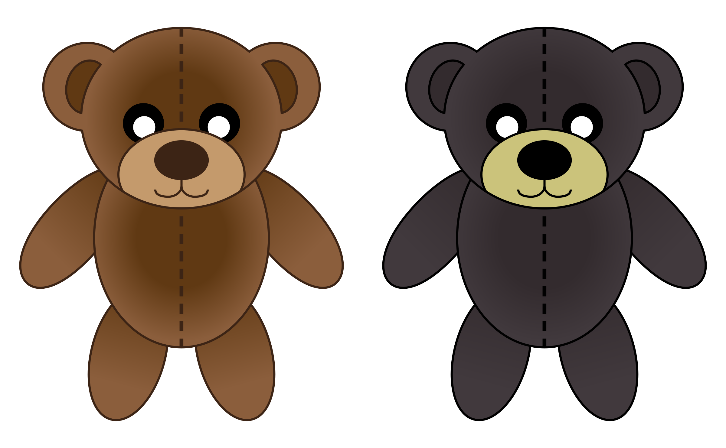 Plush bears by CLXVI