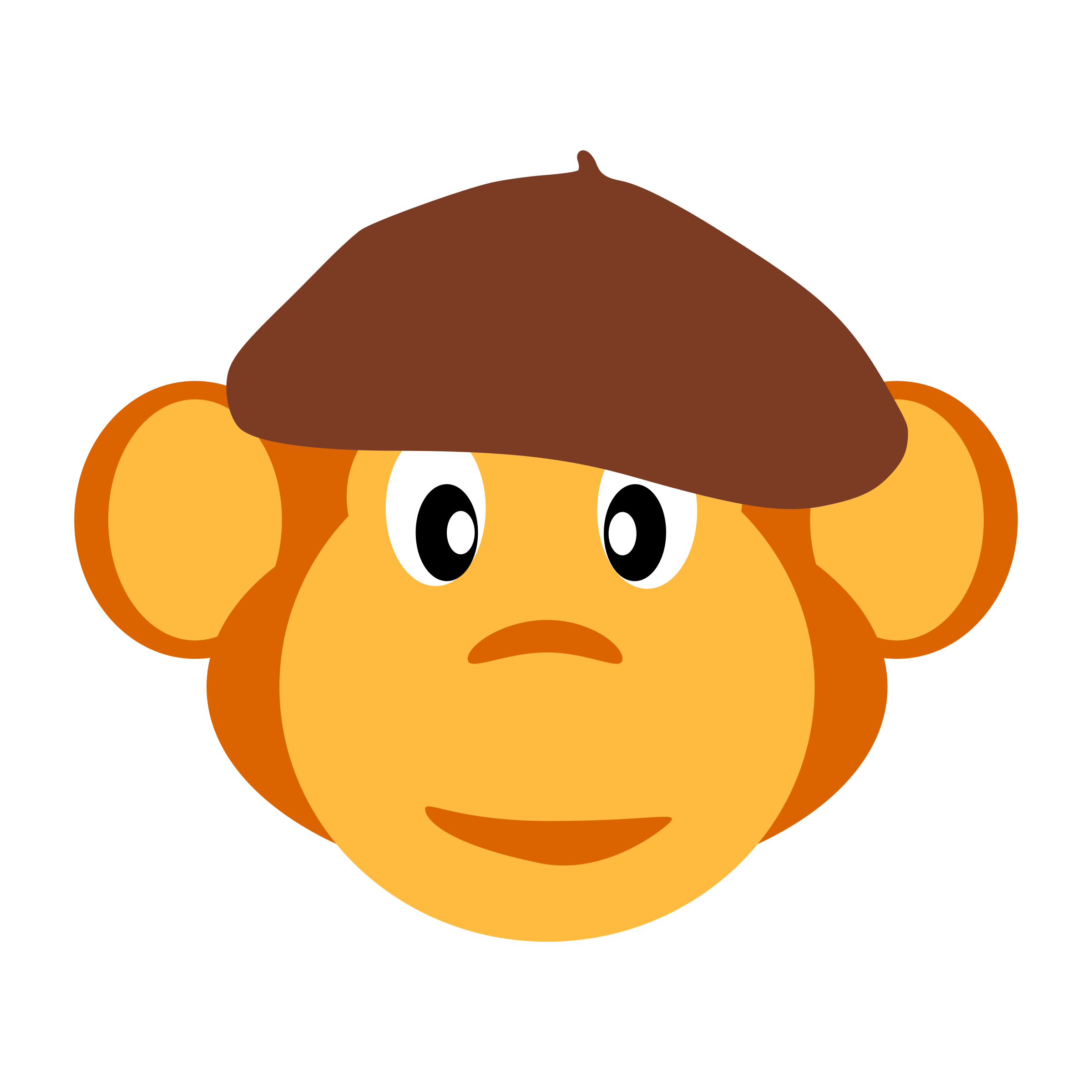 monkey with beret by yamachem