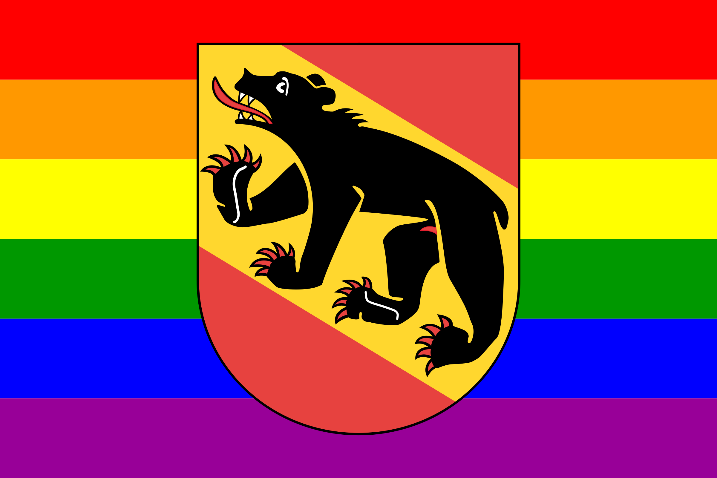 Rainbow Flag Bern by AdamStanislav